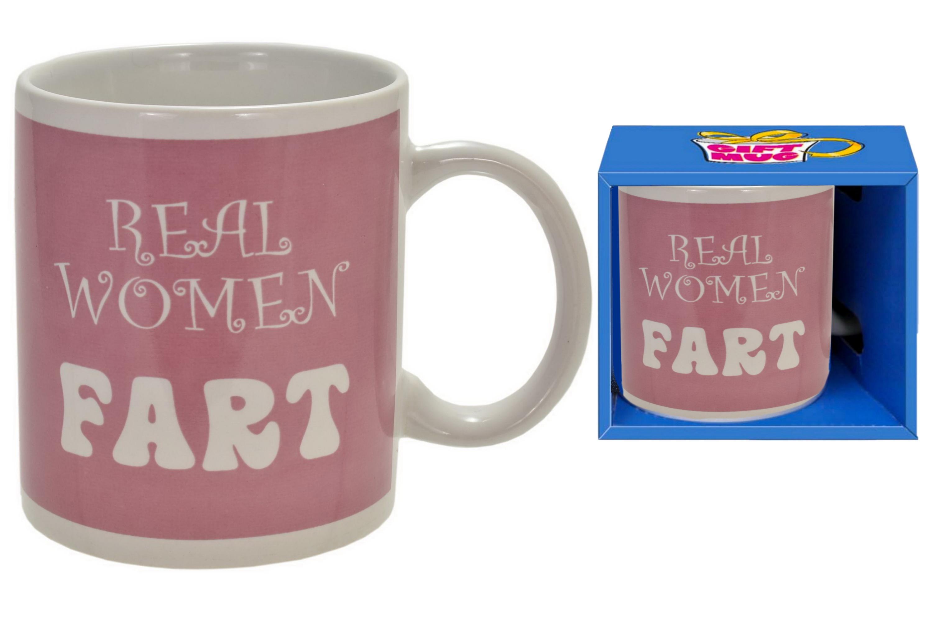 Real Women Fart Mug In Gift Box