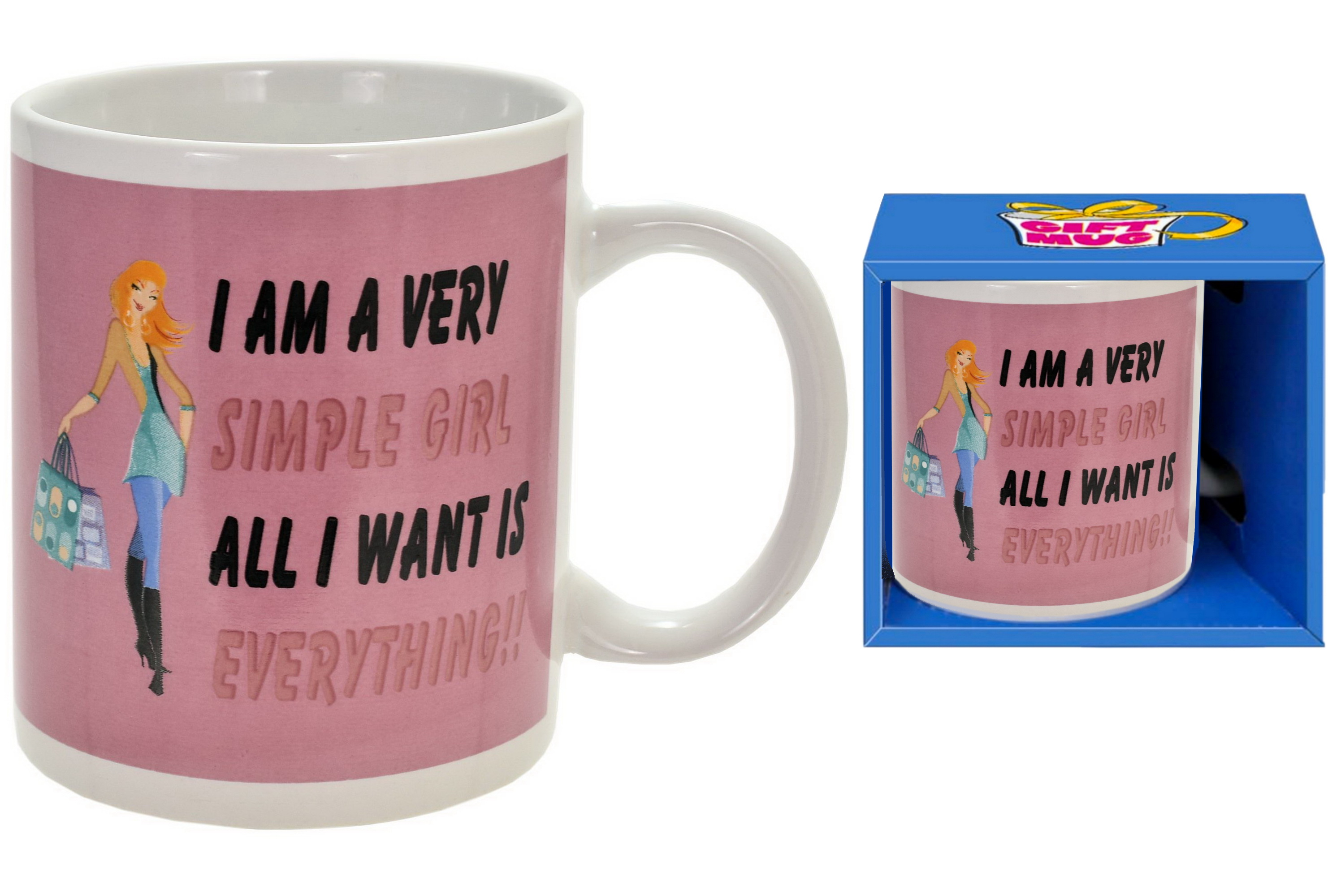 Simple Girl Mug In Gift Box