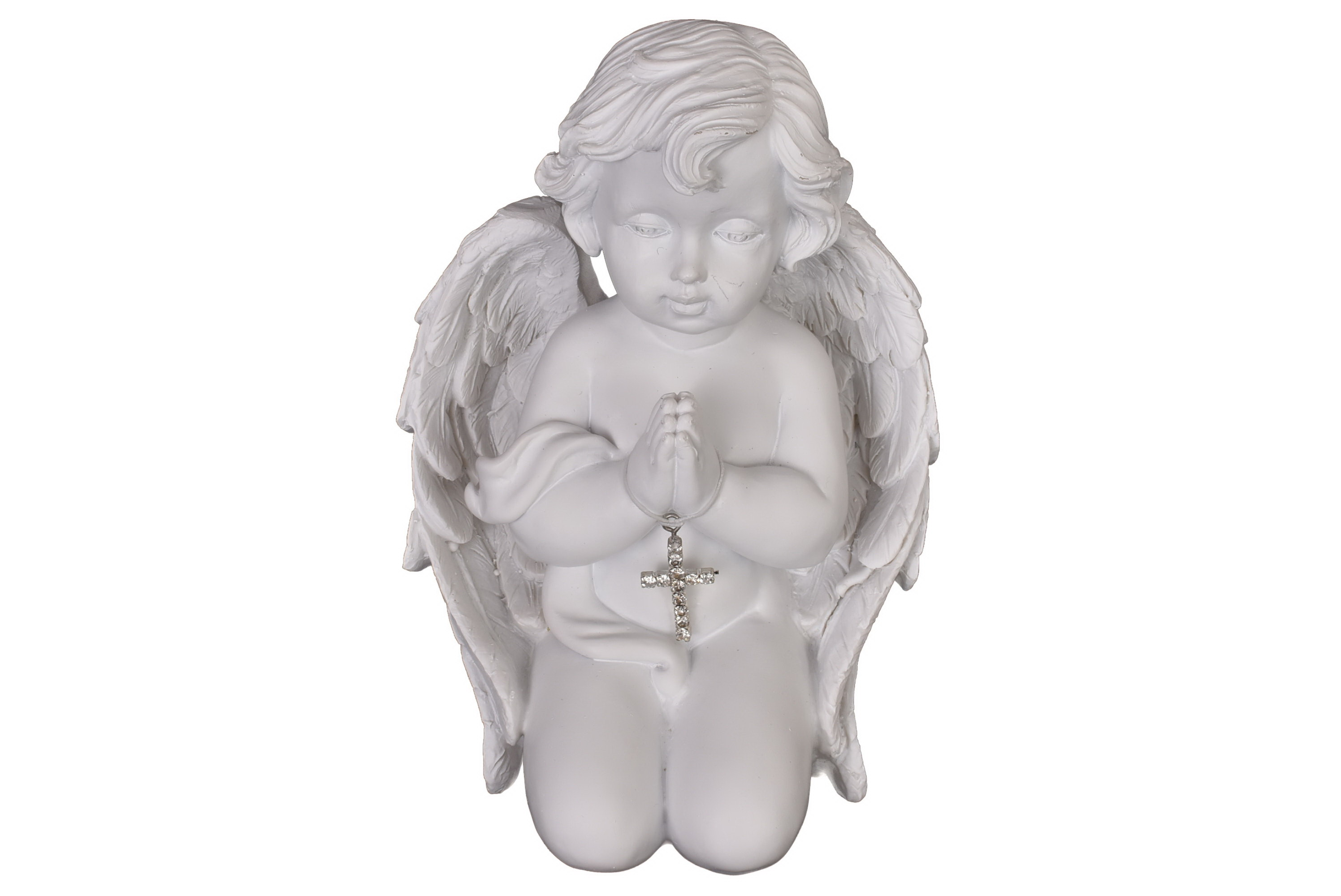 Angel Kneeling With Cross 13.5cm