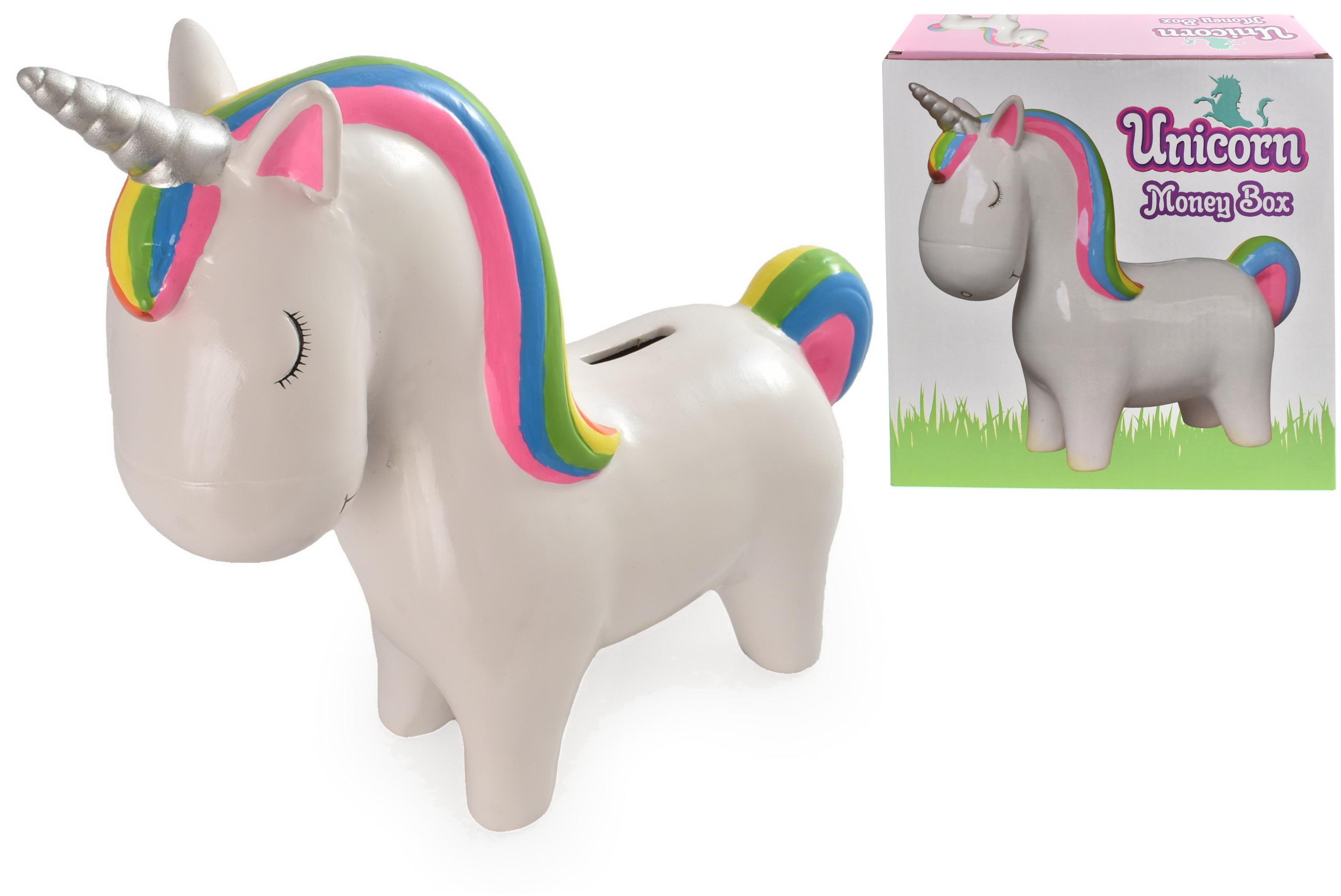 Ceramic Larger Unicorn Money Box In Colour Box