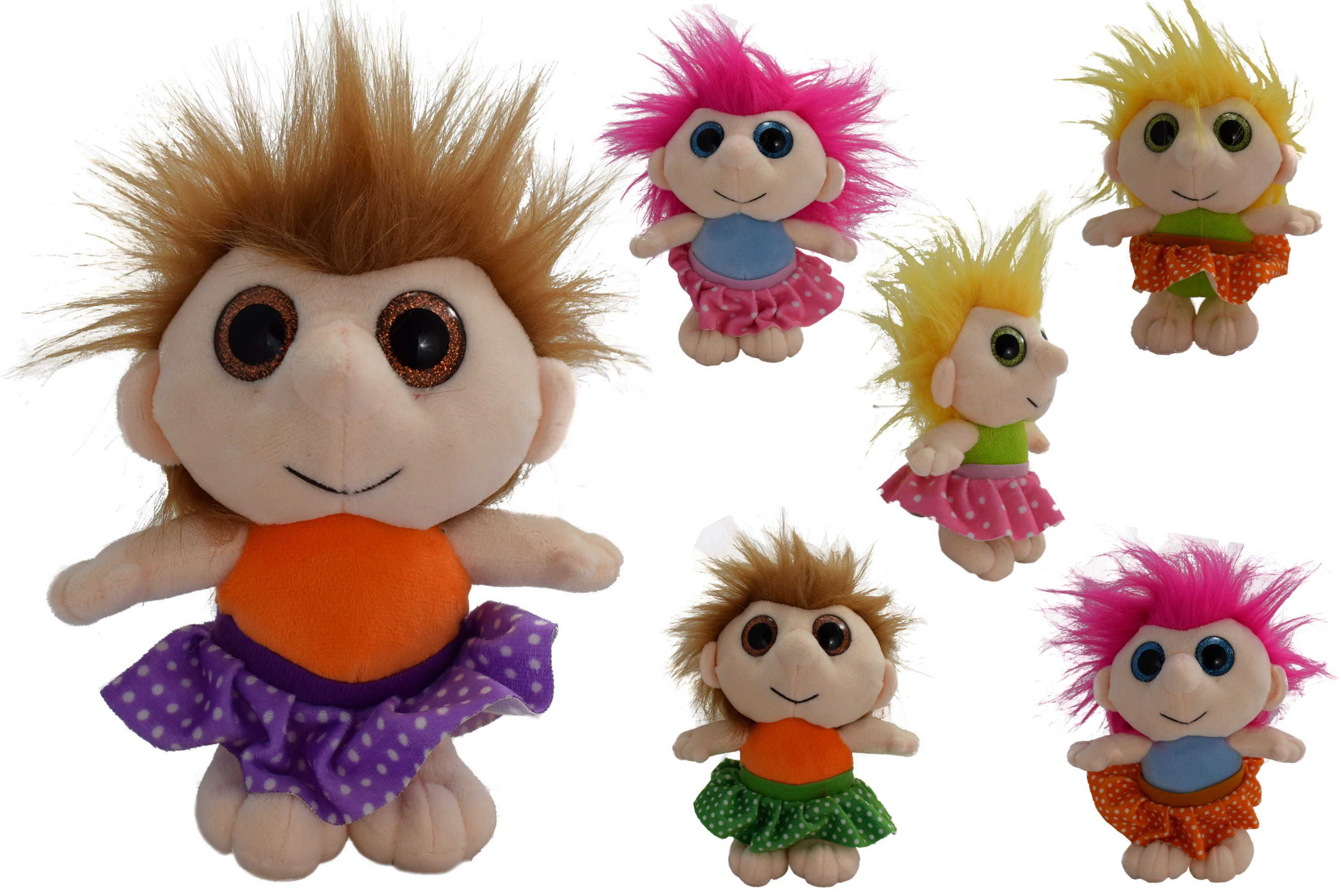 15cm Plush Girl Lucky Ones - 6 Assorted Colours