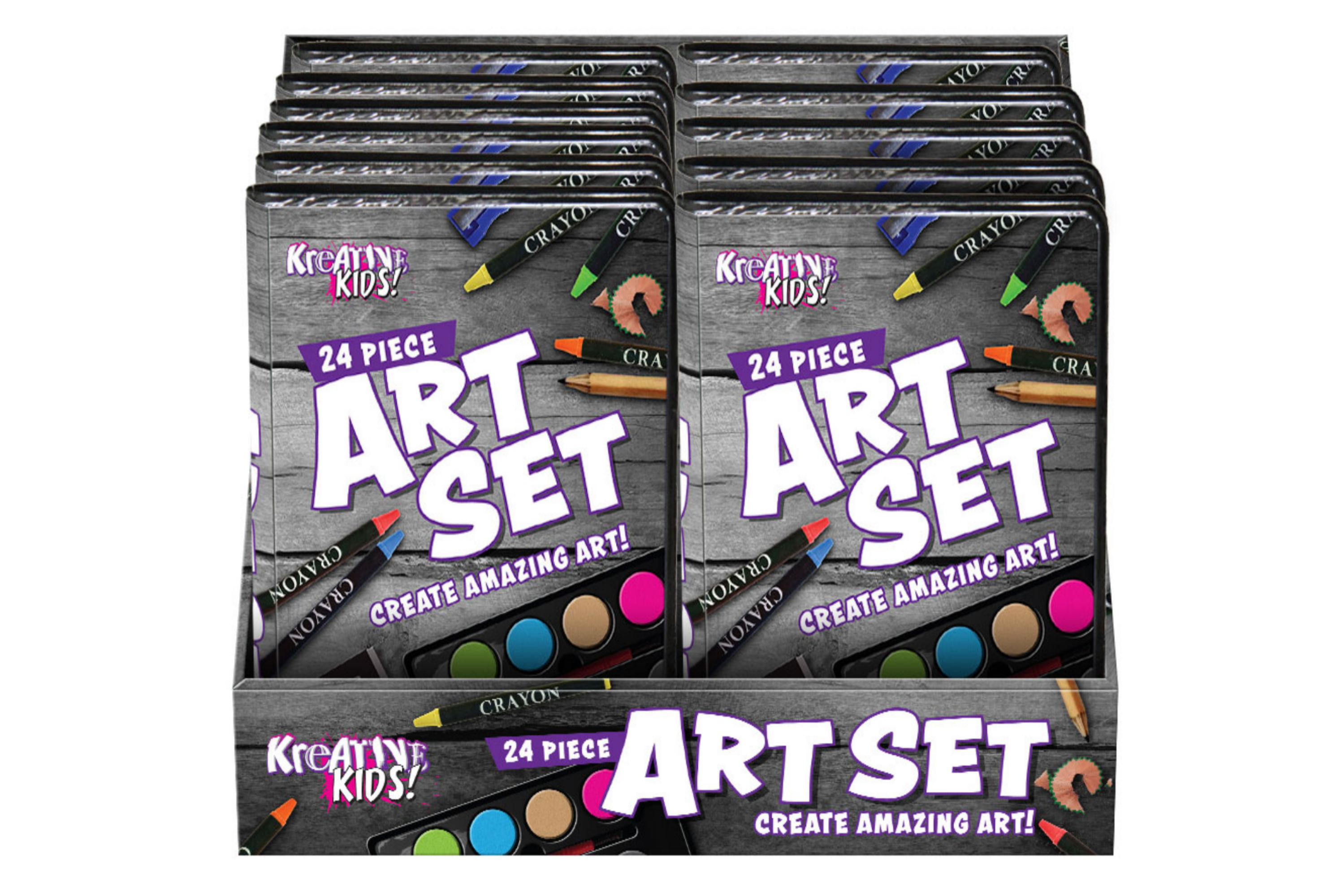 24pc Art Set In Display Box