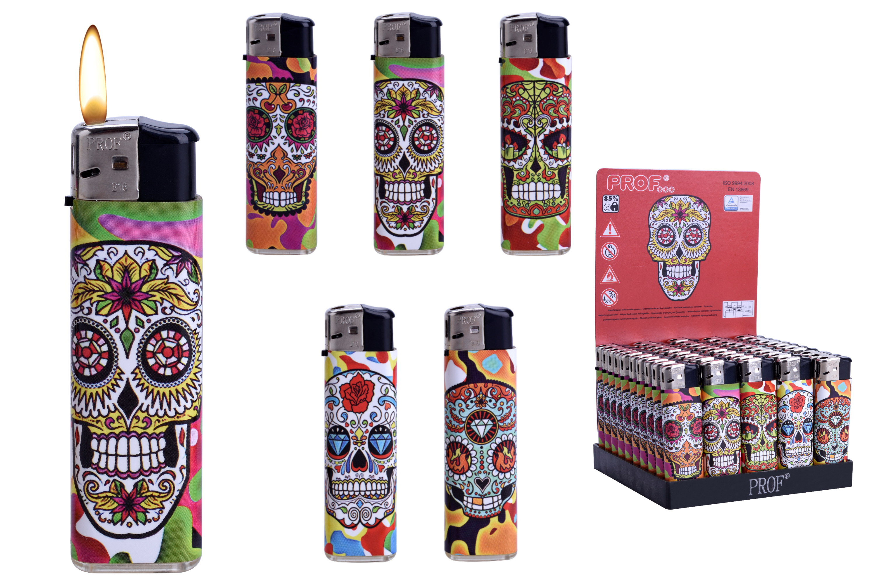 Skull Design Disposable Lighter In Display Box