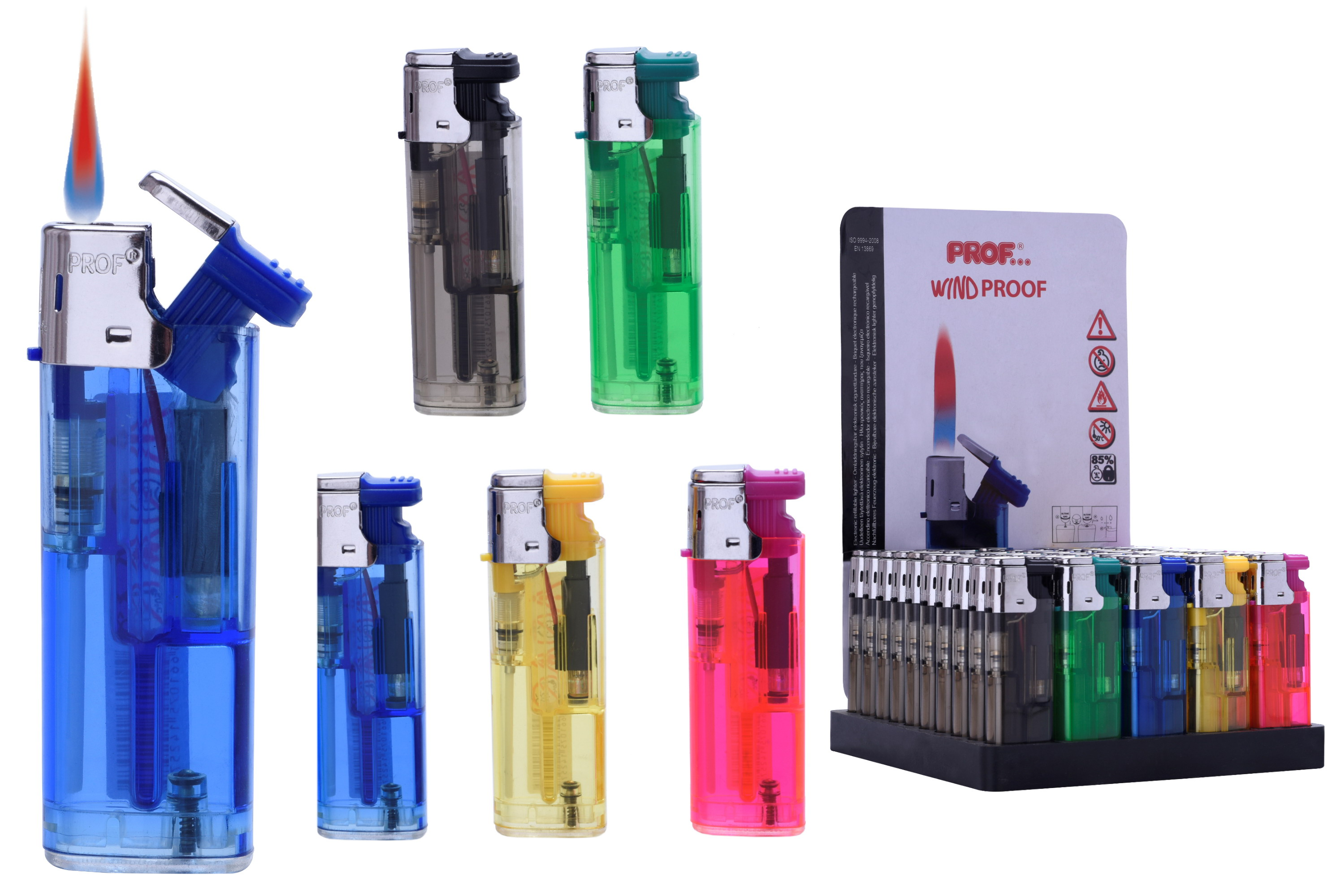 Windproof Disposable Lighter In Display Box