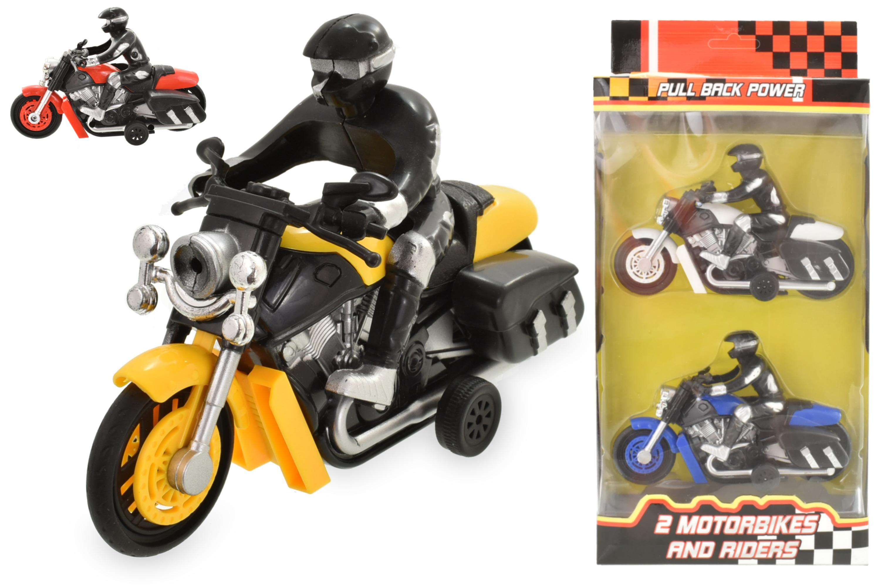 2pc Motorbike And Rider In Window Box