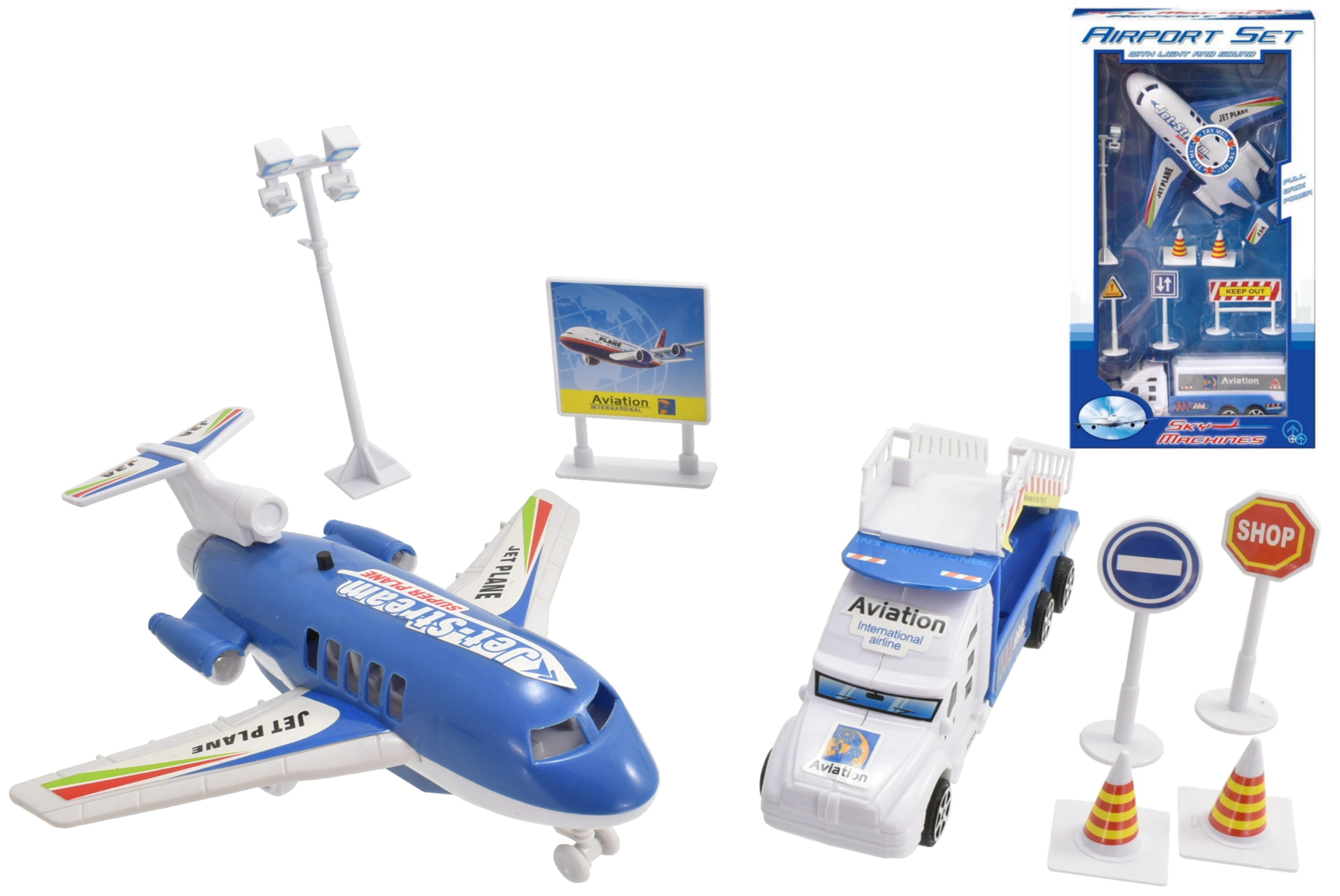 "Airport Playset (4 Asst) With Sound ""Try Me"" In W/Box"