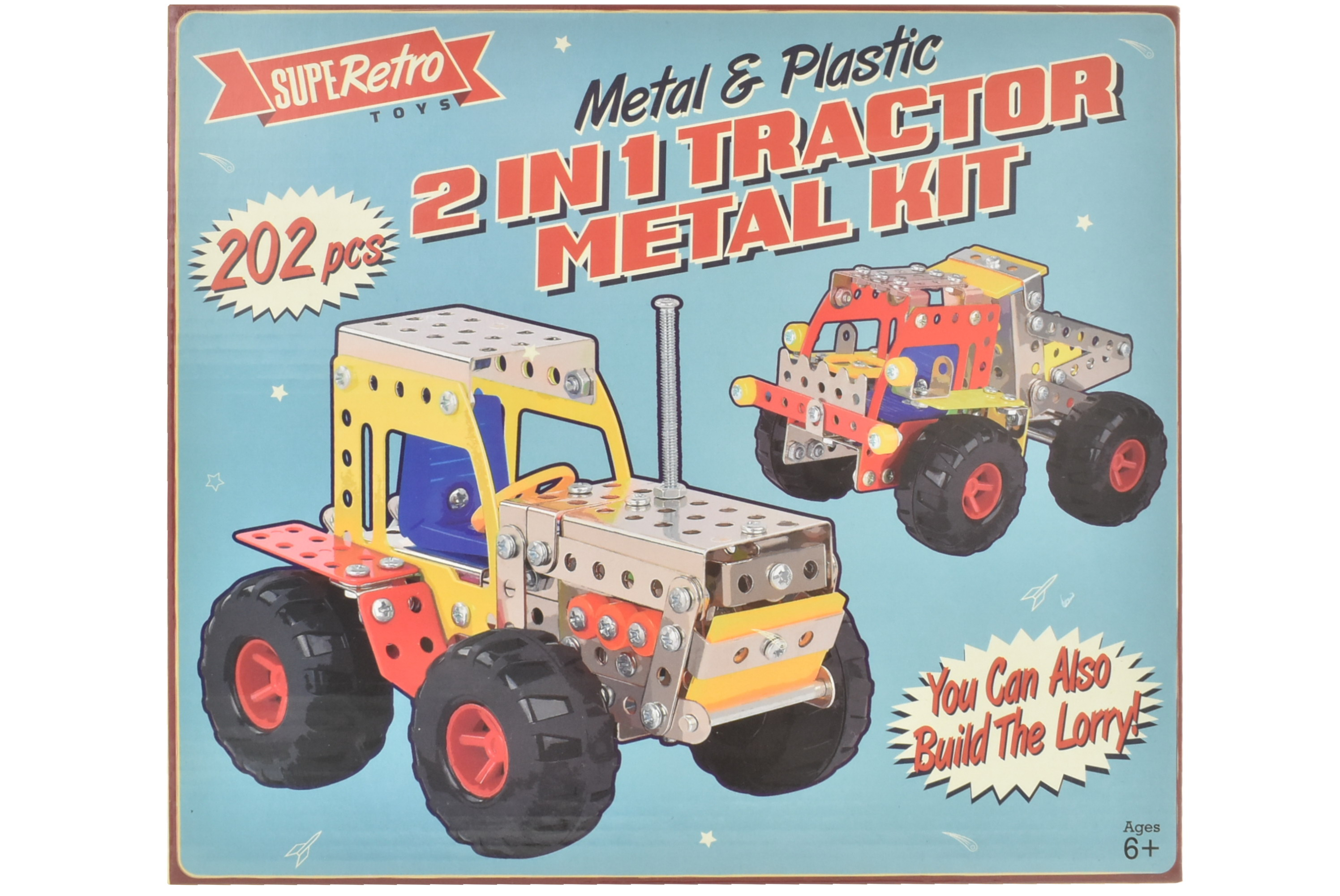 "2 In 1 Vehicle Metal Kit In Colour Box - ""Retro"""