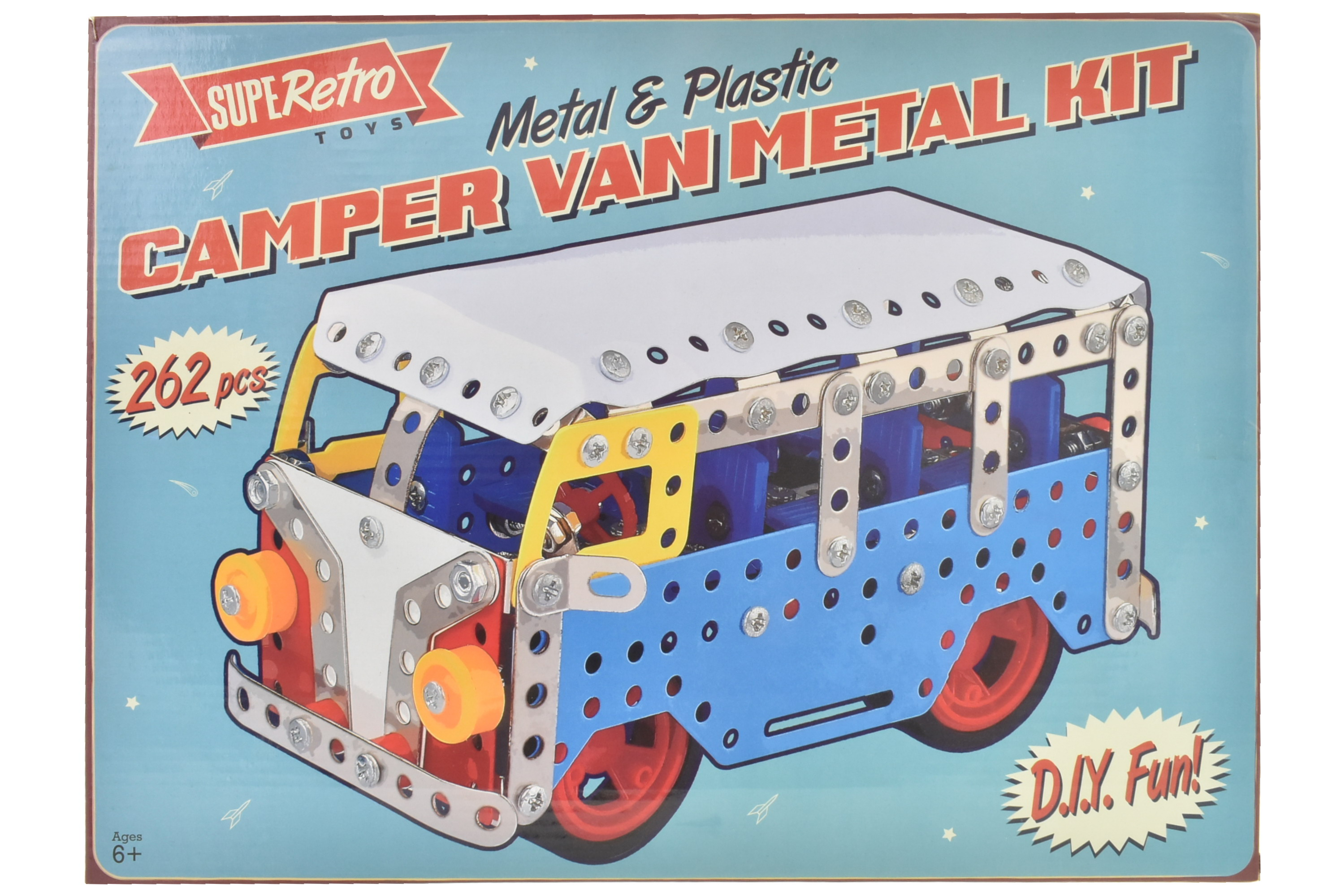 "262pc Camper Van Metal Kit In Colour Box -""Retro"""
