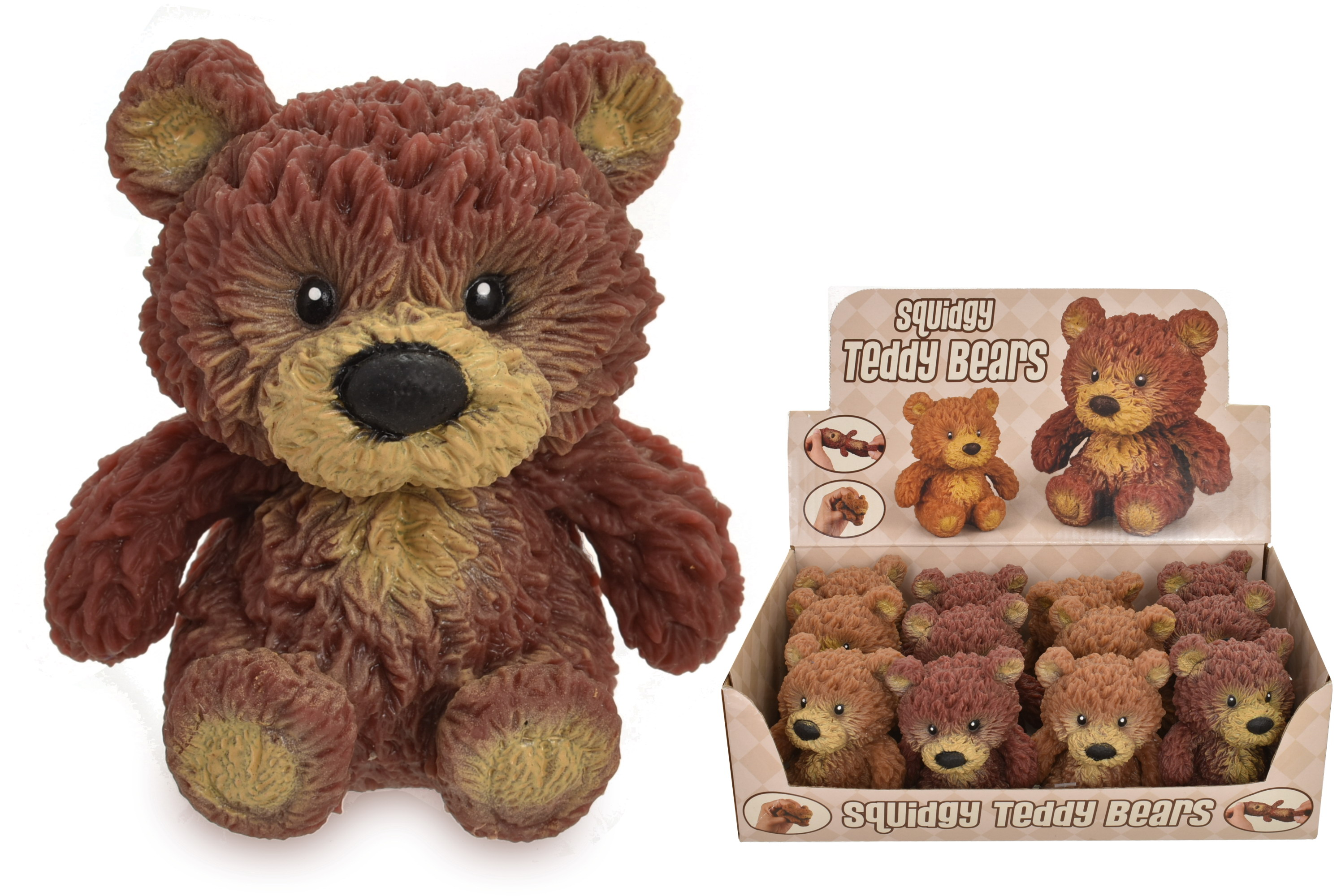 Tpr Teddy Bear With Beans (2 Assorted) In Display Box