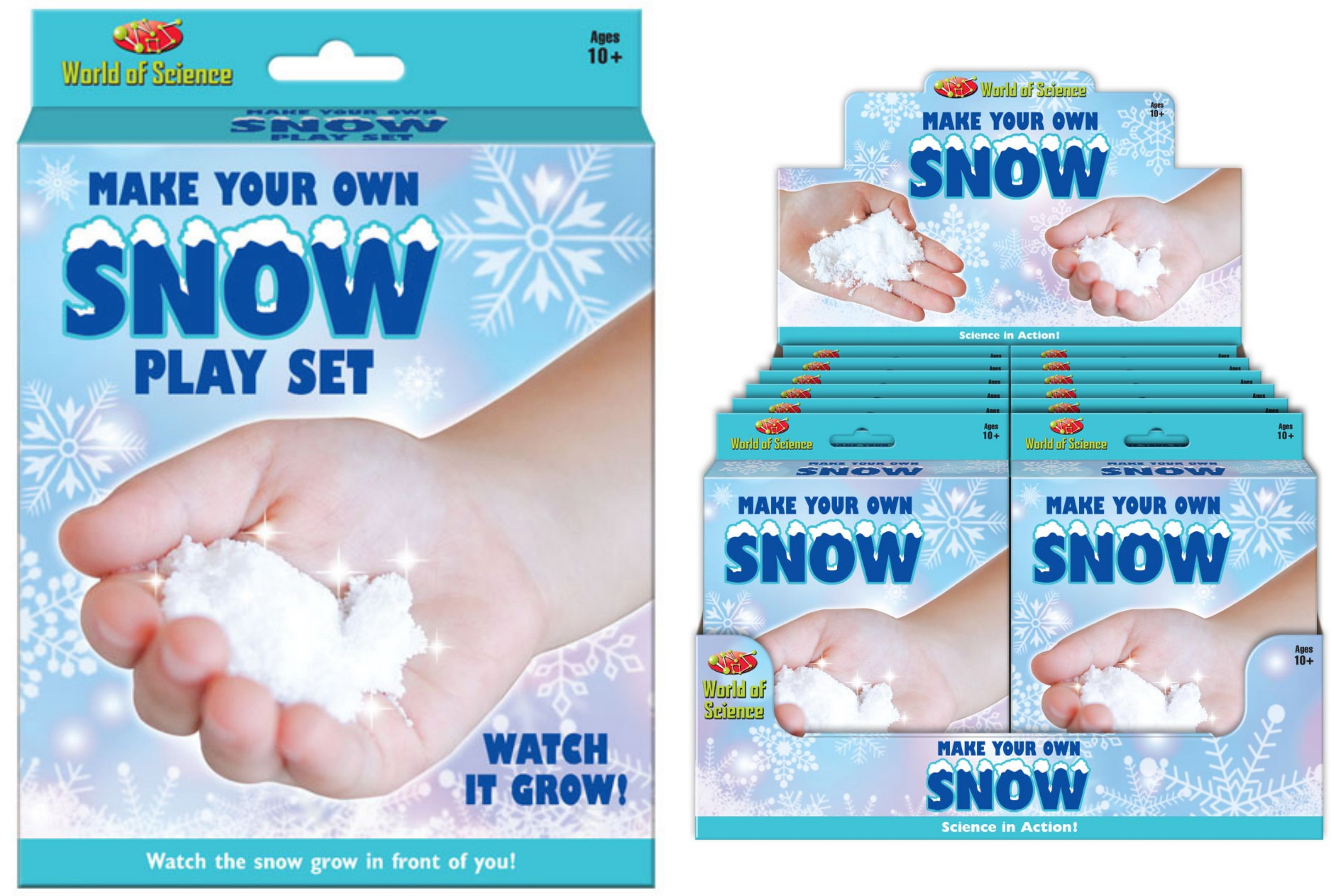 Make Your Own Snow Playset -Hanging Box & Display Box