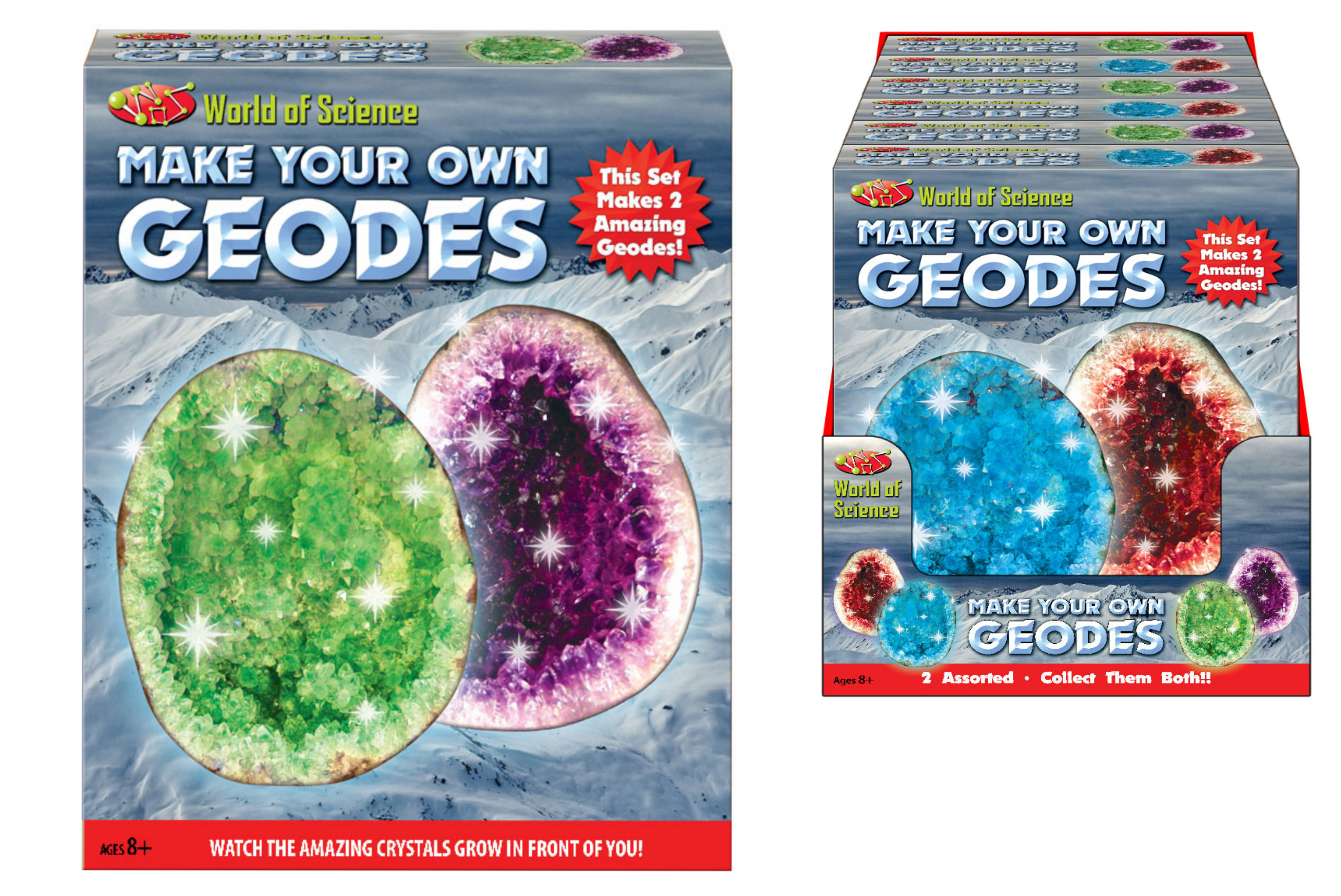 Make Your Own 2pc Geodes (2 Asst) In Colour Box & Pdq