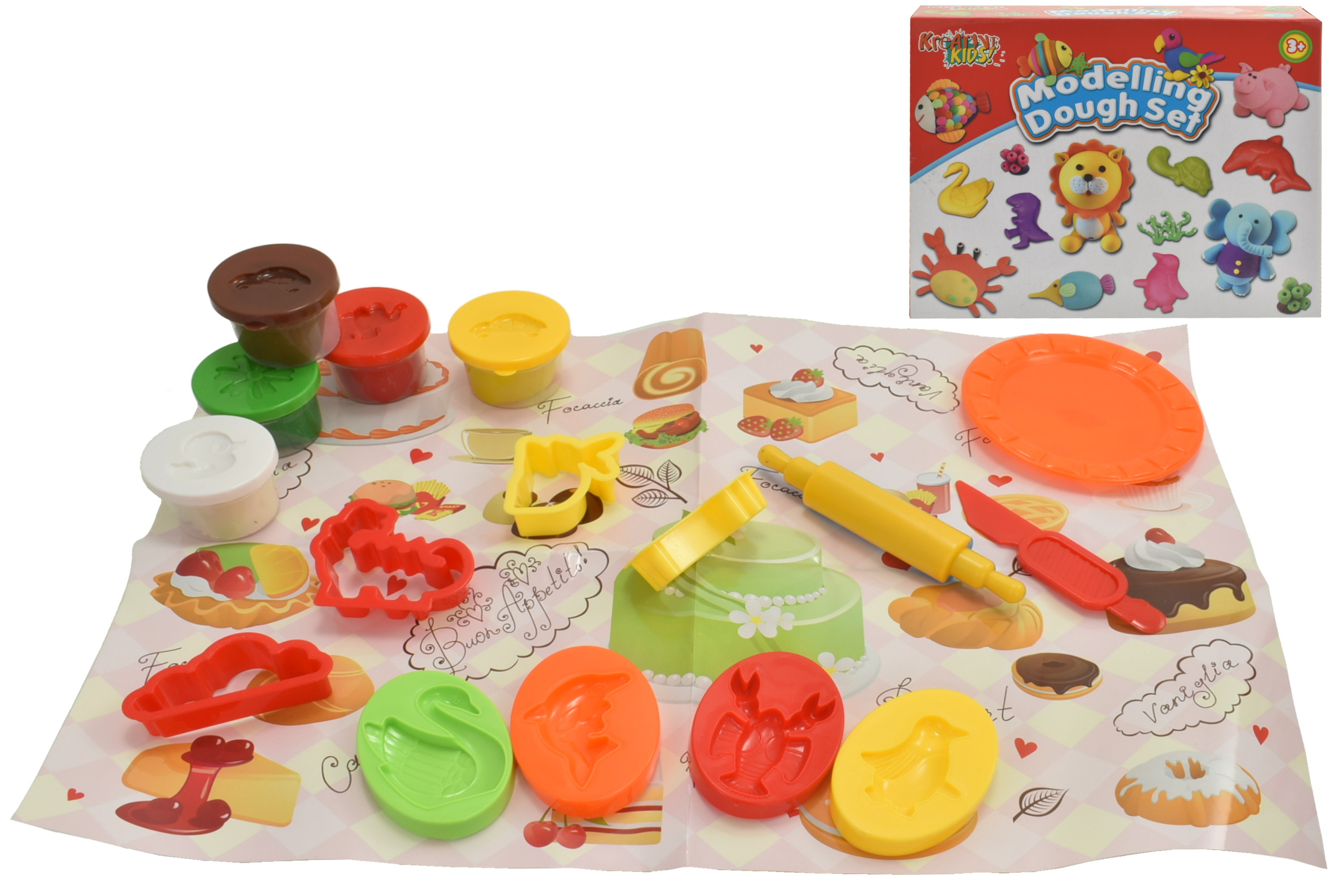 Modelling Colour Clay Playset In Colour Box