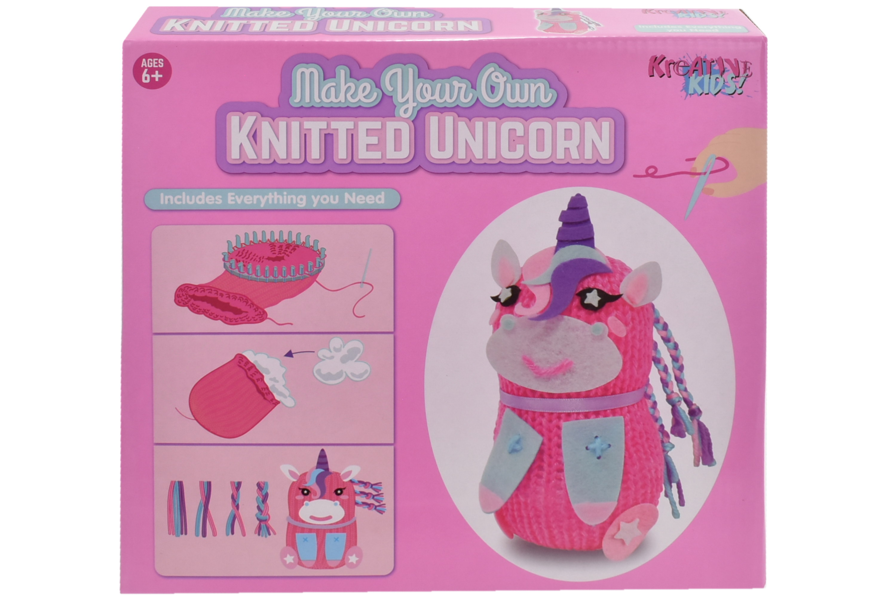 Make Your Own Knitted Unicorn In Colour Box