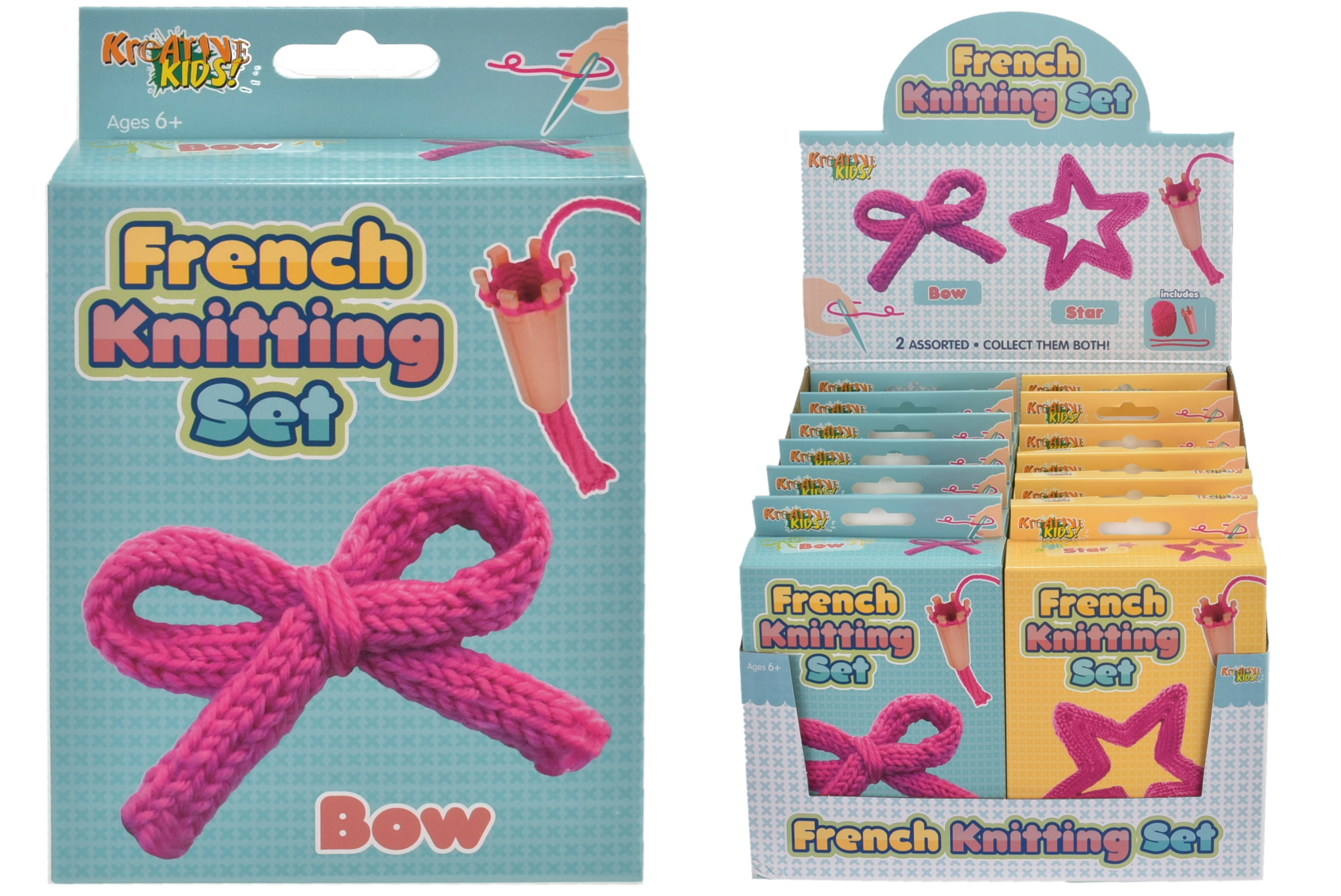 French Knitting Set 2 Assorted In Colour Box/Display Bx