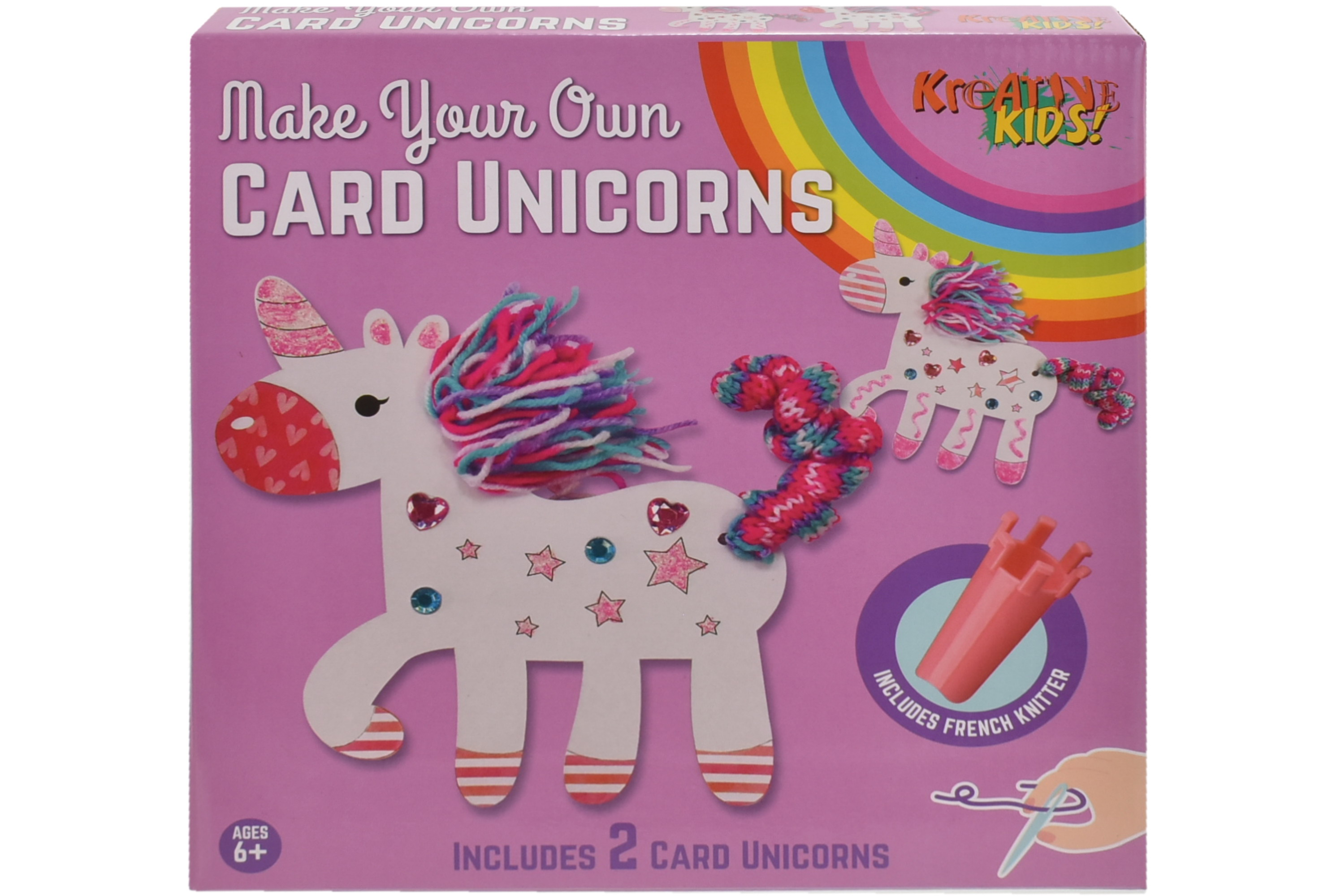 Make Your Own 2pc Card Unicorns In Colour Box