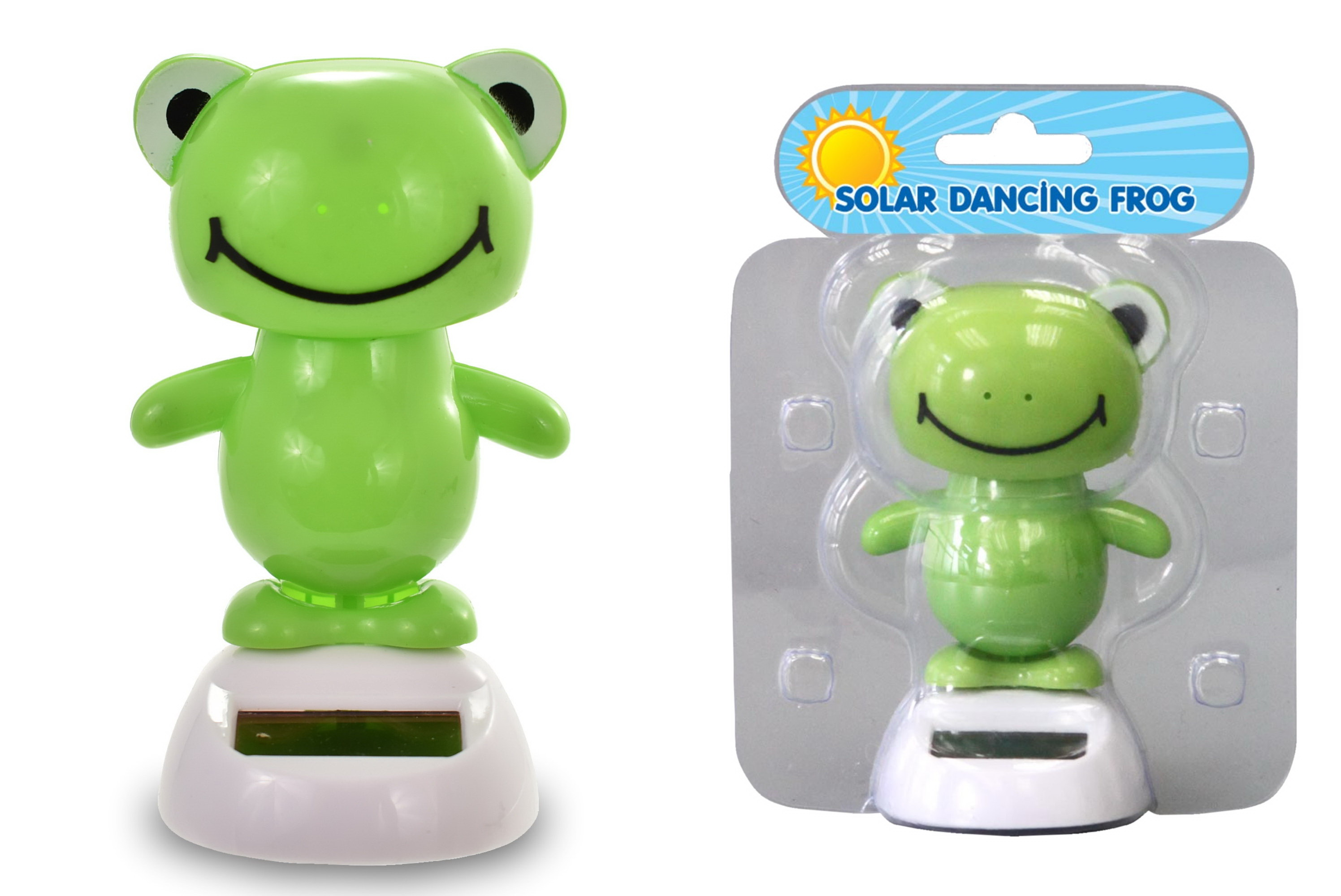 Solar Dancing Frog In Clamshell