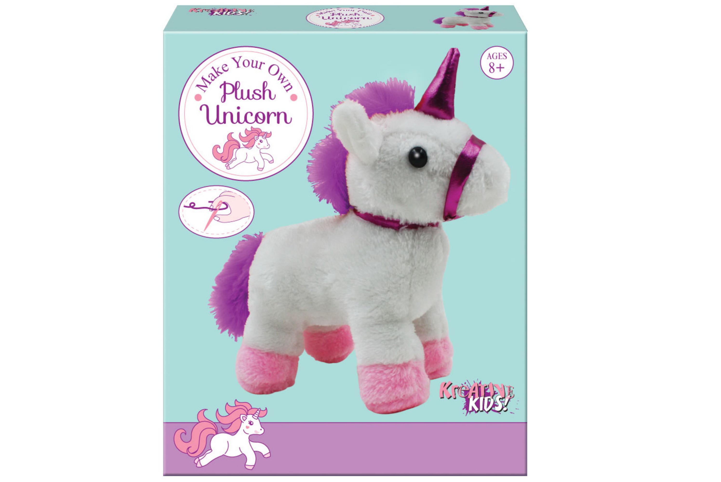 Make Your Own Plush Unicorn In Colour Box