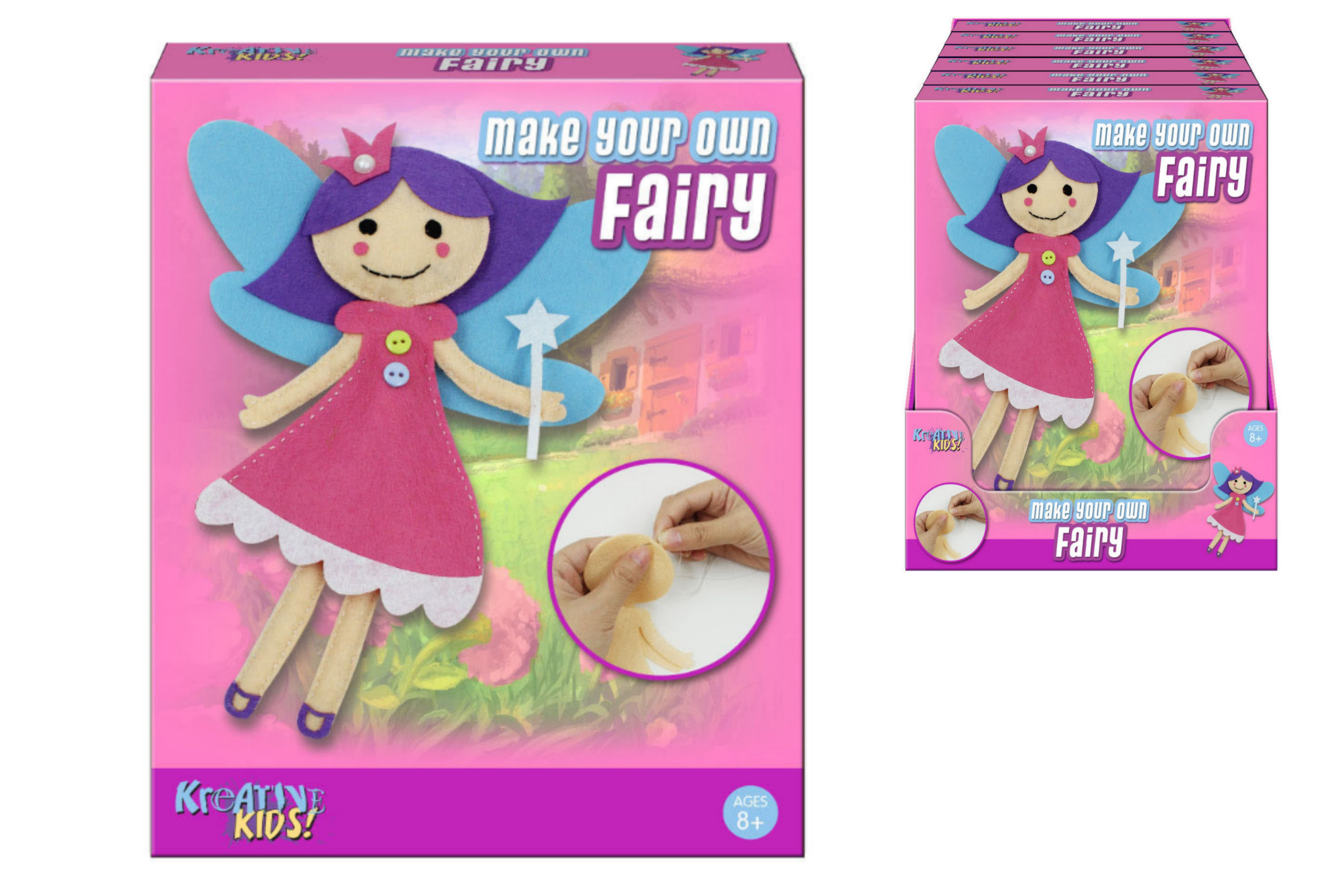 Make Your Own Felt & Stuff Fairy In Colour Box Pdq