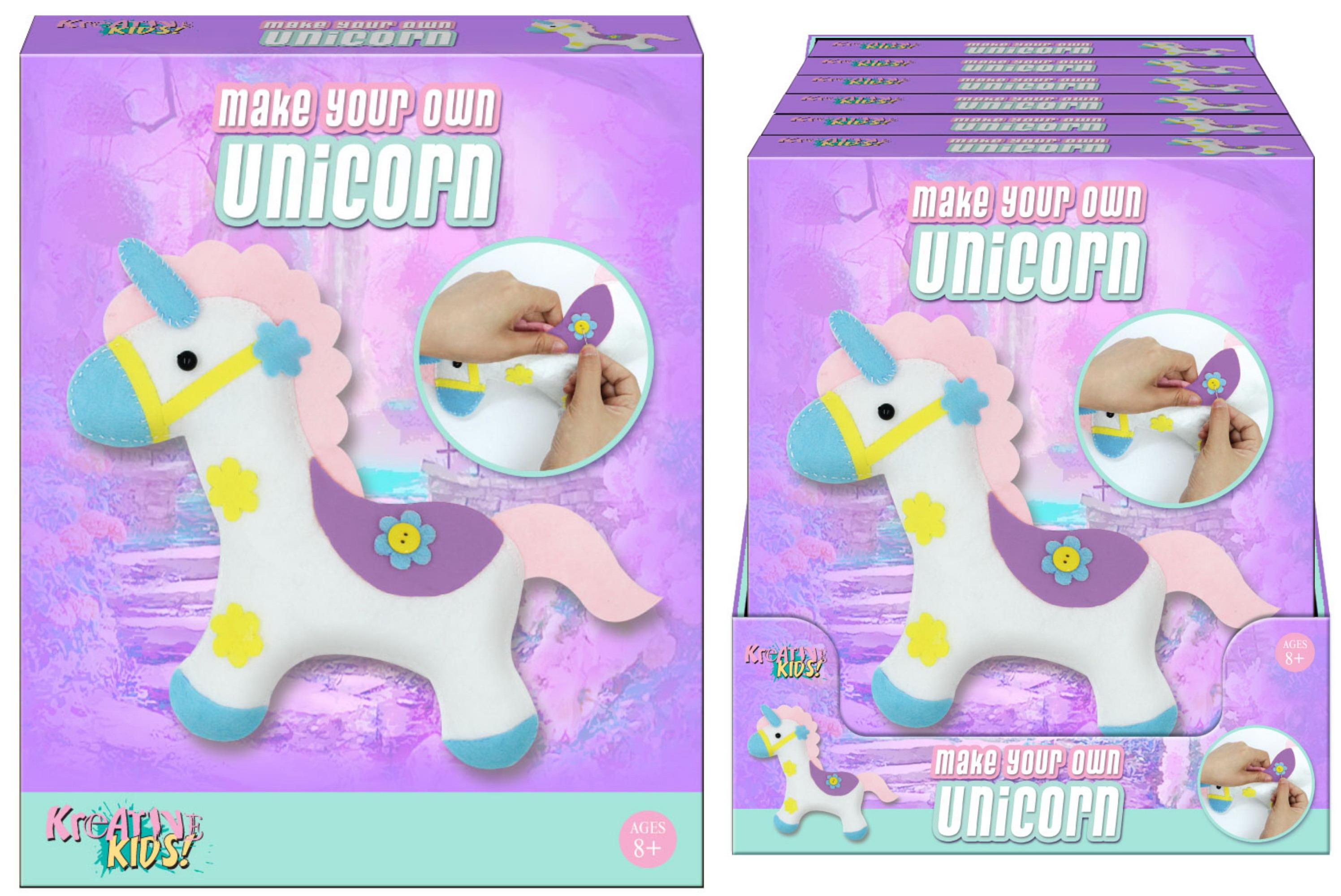 Make Your Own Felt & Stuff Unicorn In Colour Box Pdq