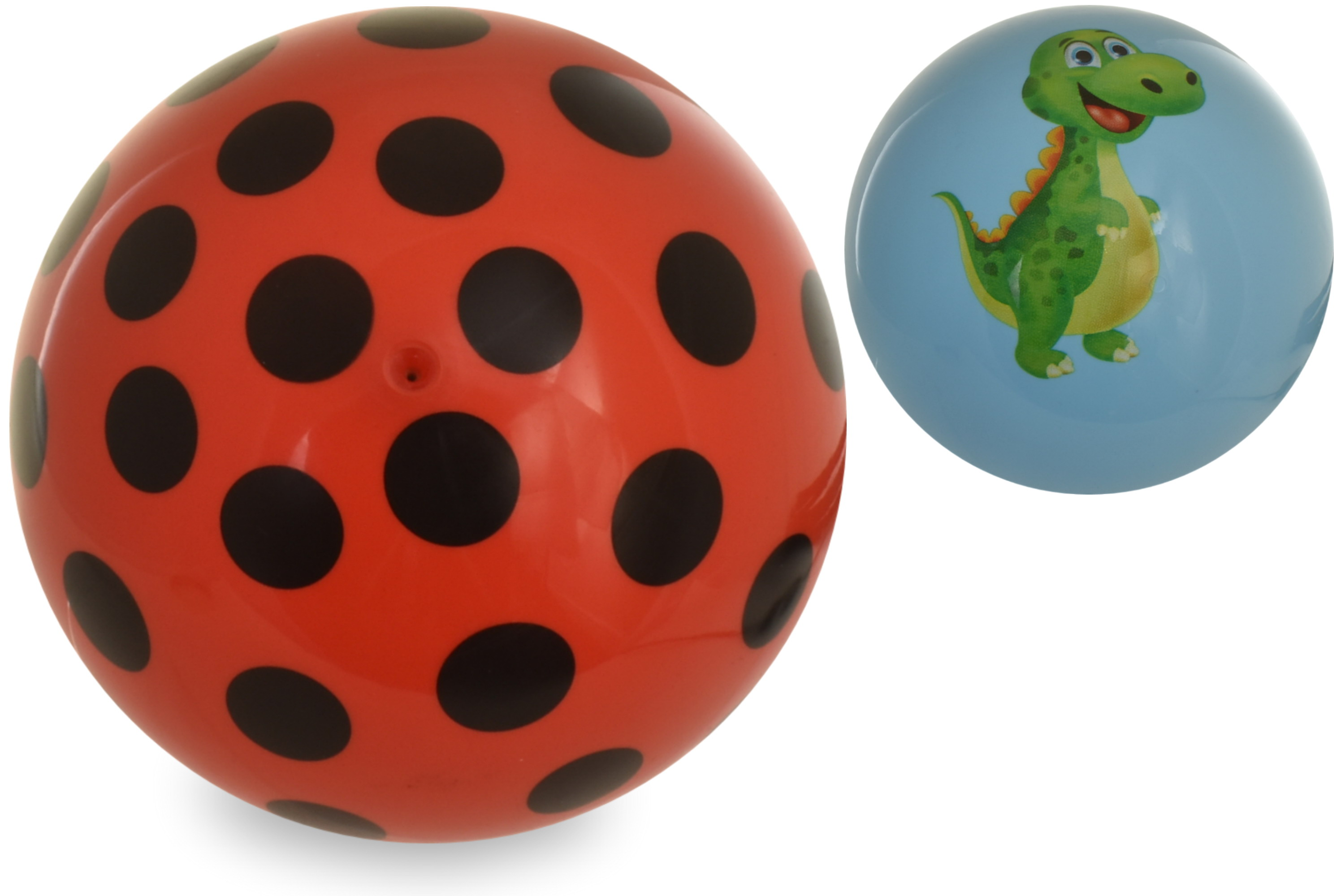 "6.5"" 80g Dino Print & Spotted Print Ball 2 Assorted"