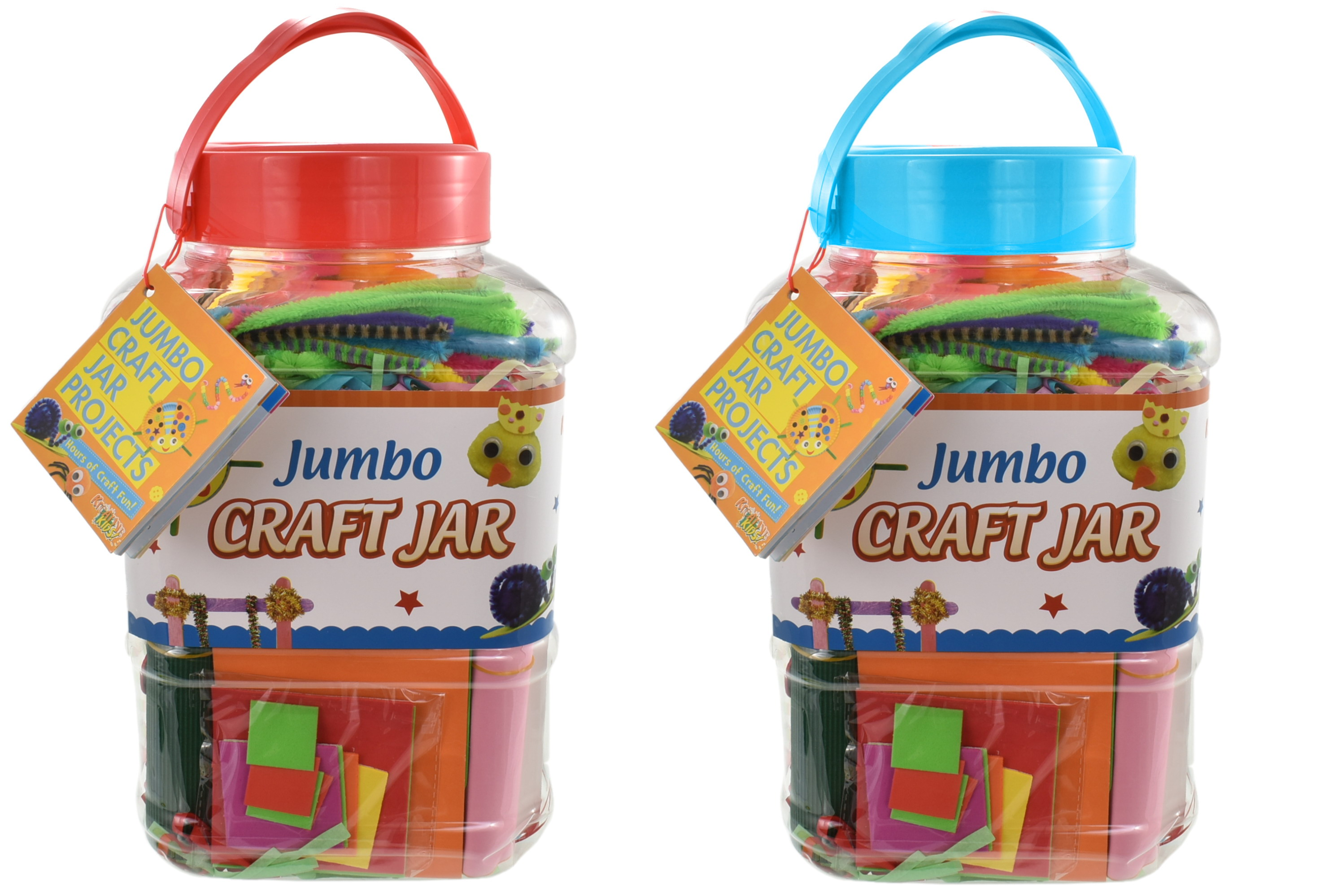 Jumbo Art Jar 2 Assorted Colours