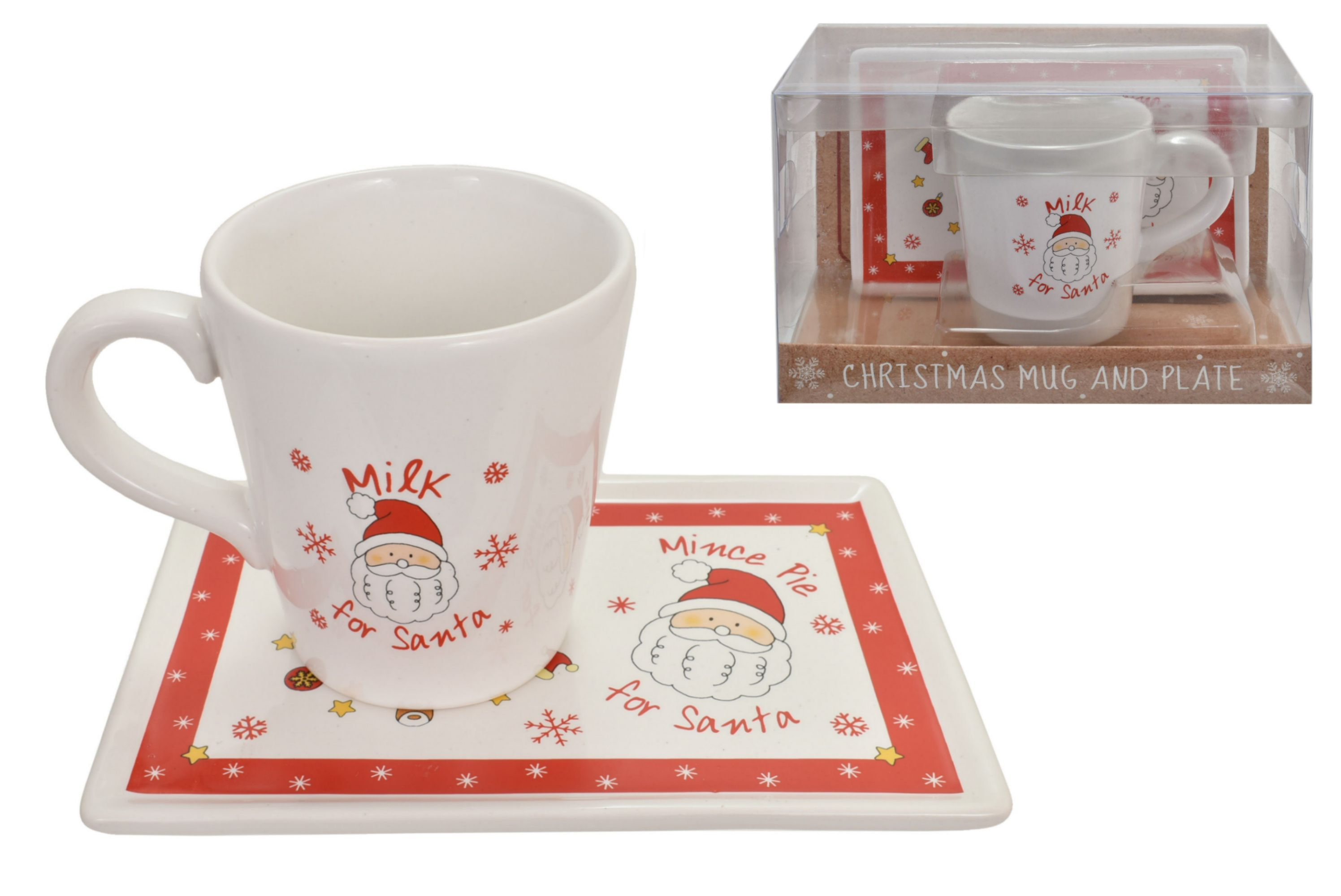 Christmas Mug & Coaster Set For Santa In Pvc Box