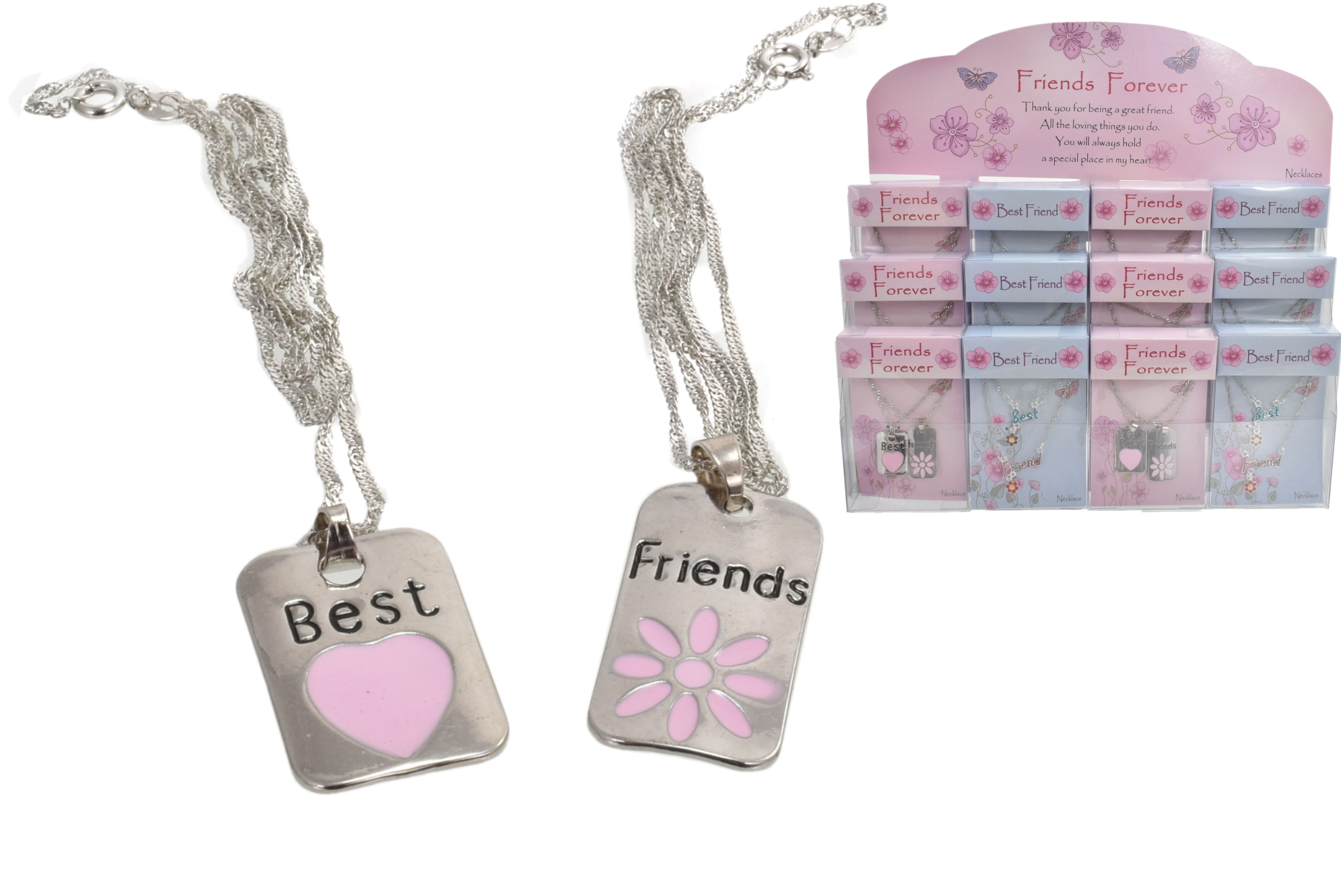 Friends Forever Double Necklace In Acetate Box In Dbx