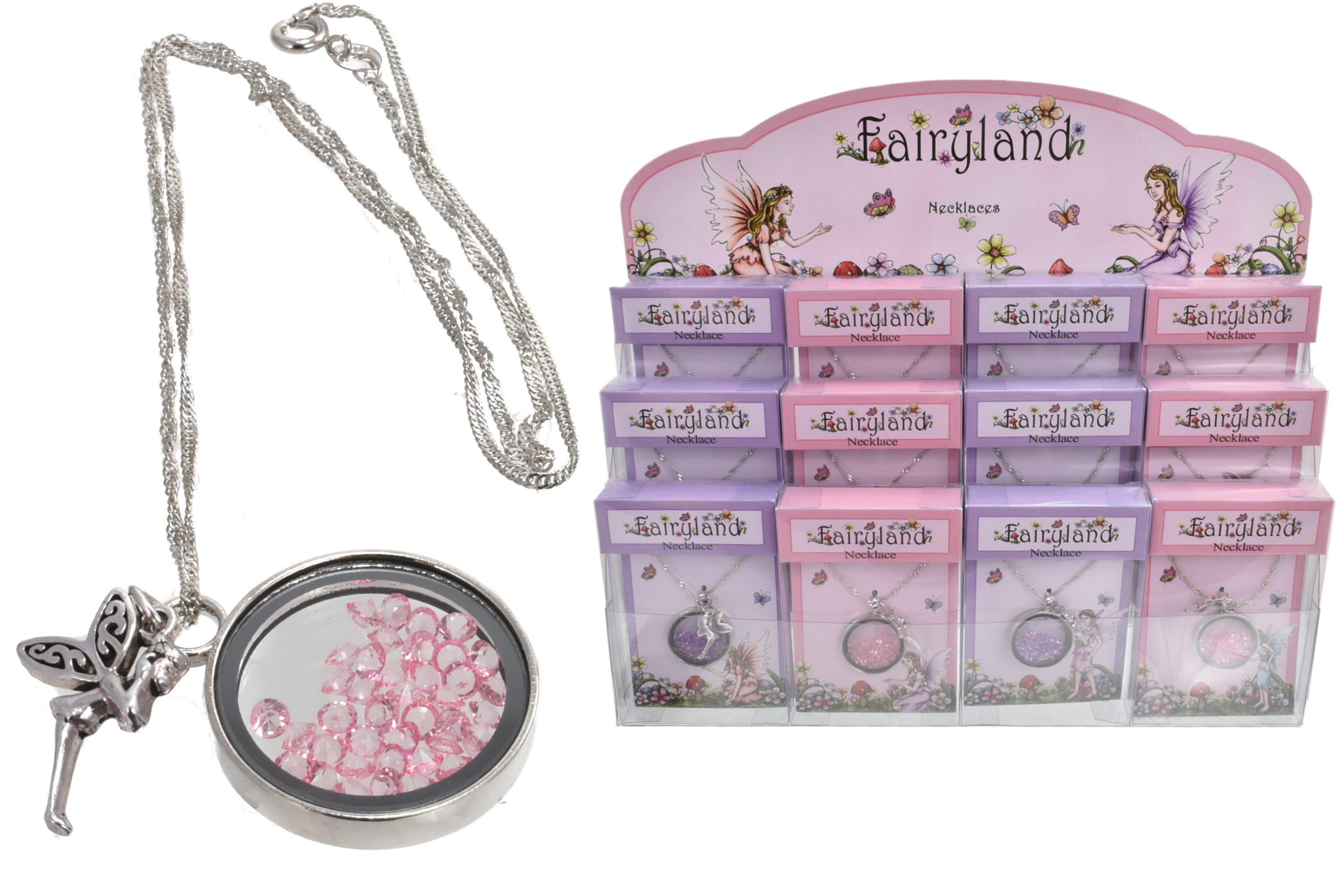 Fairyland Crystal Necklace In Acetate Box In Display Bx