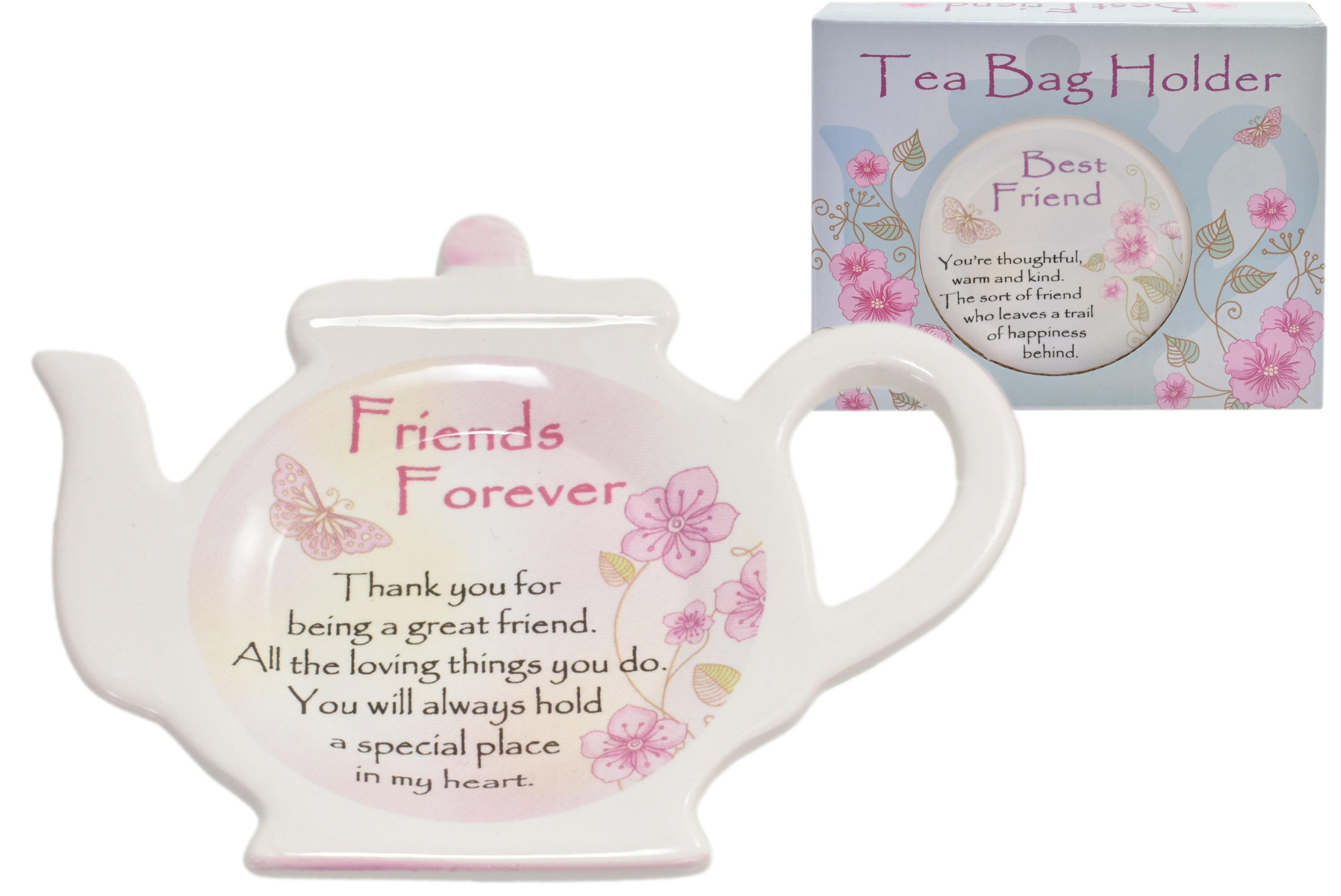 Friends Forever Ceramic Tea Caddy In Acetate Box
