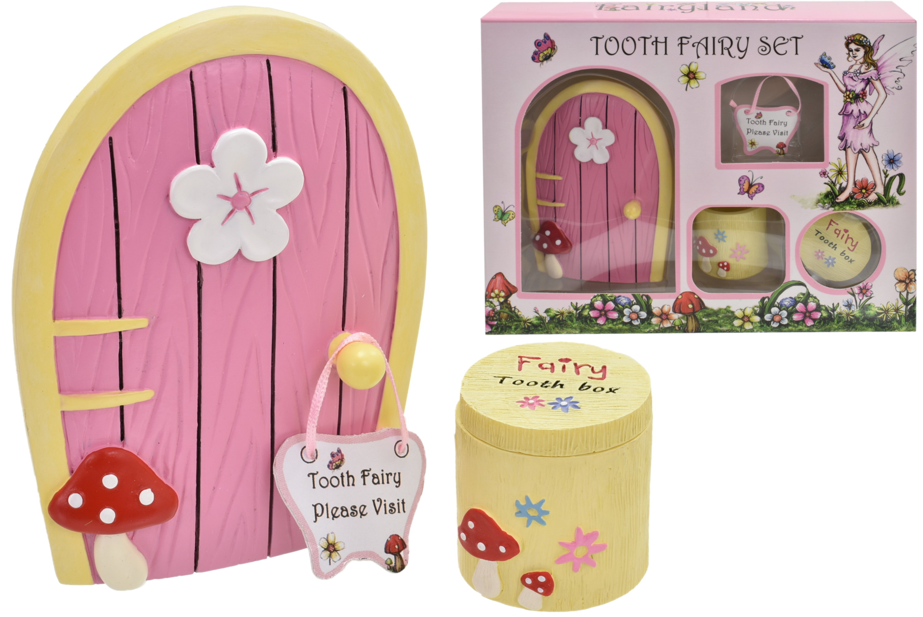 Fairyland Door Set With Tooth Box In Window Box