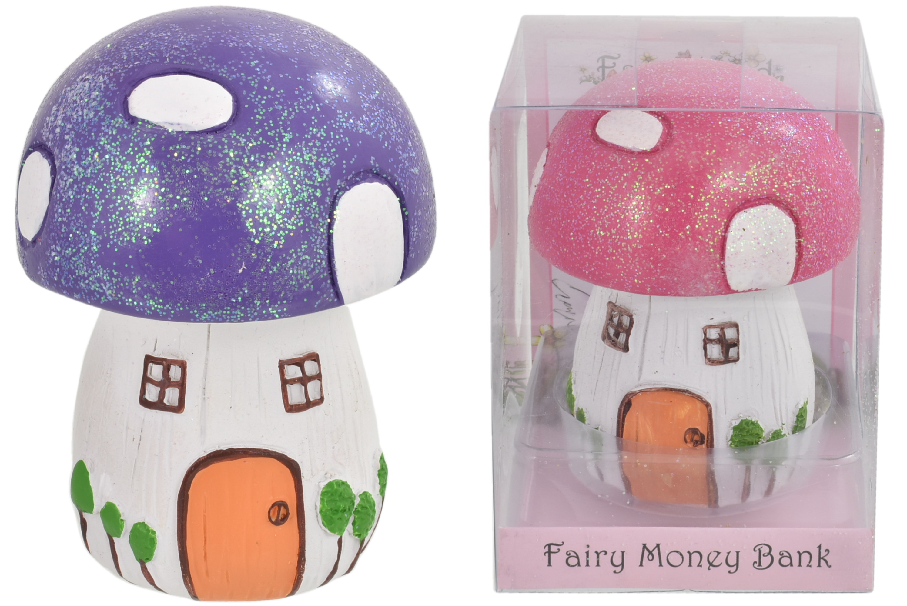 Fairyland Mushroom Moneybox In Acetate Box