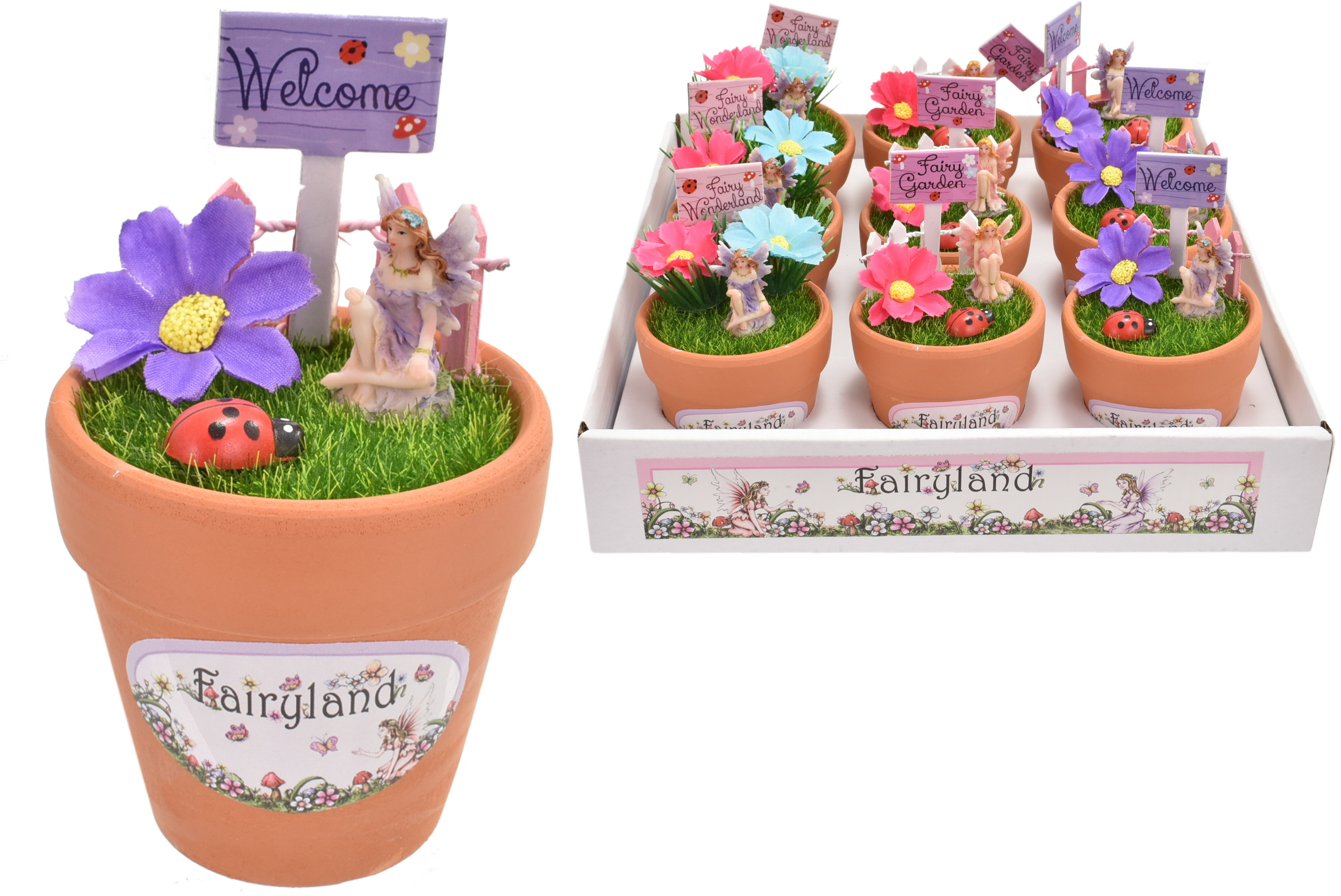 Fairyland Fairy Set In Plant Pot Display Tray