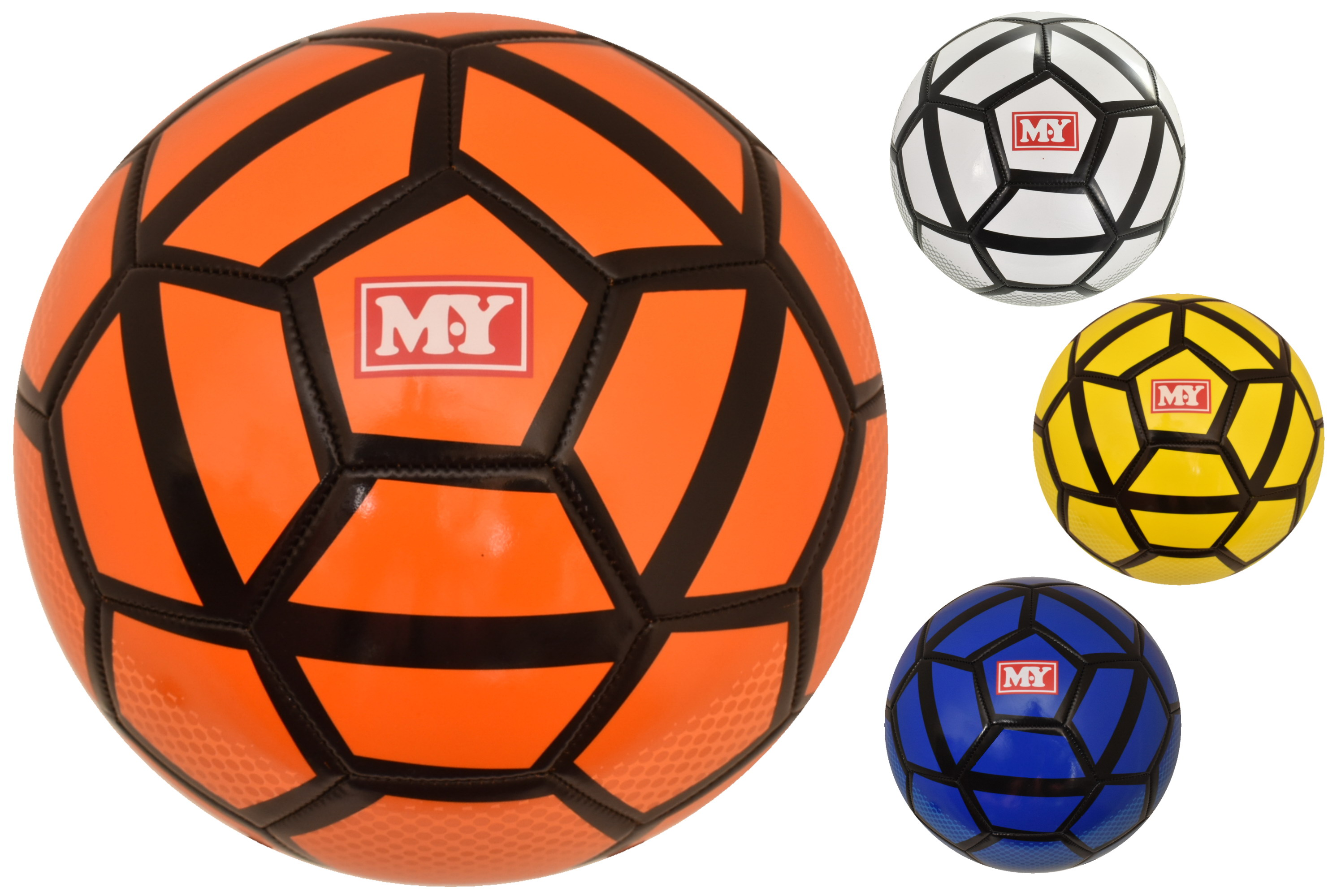 32 Panel 280g Stitched Neon Premier Football (D)4 Asst
