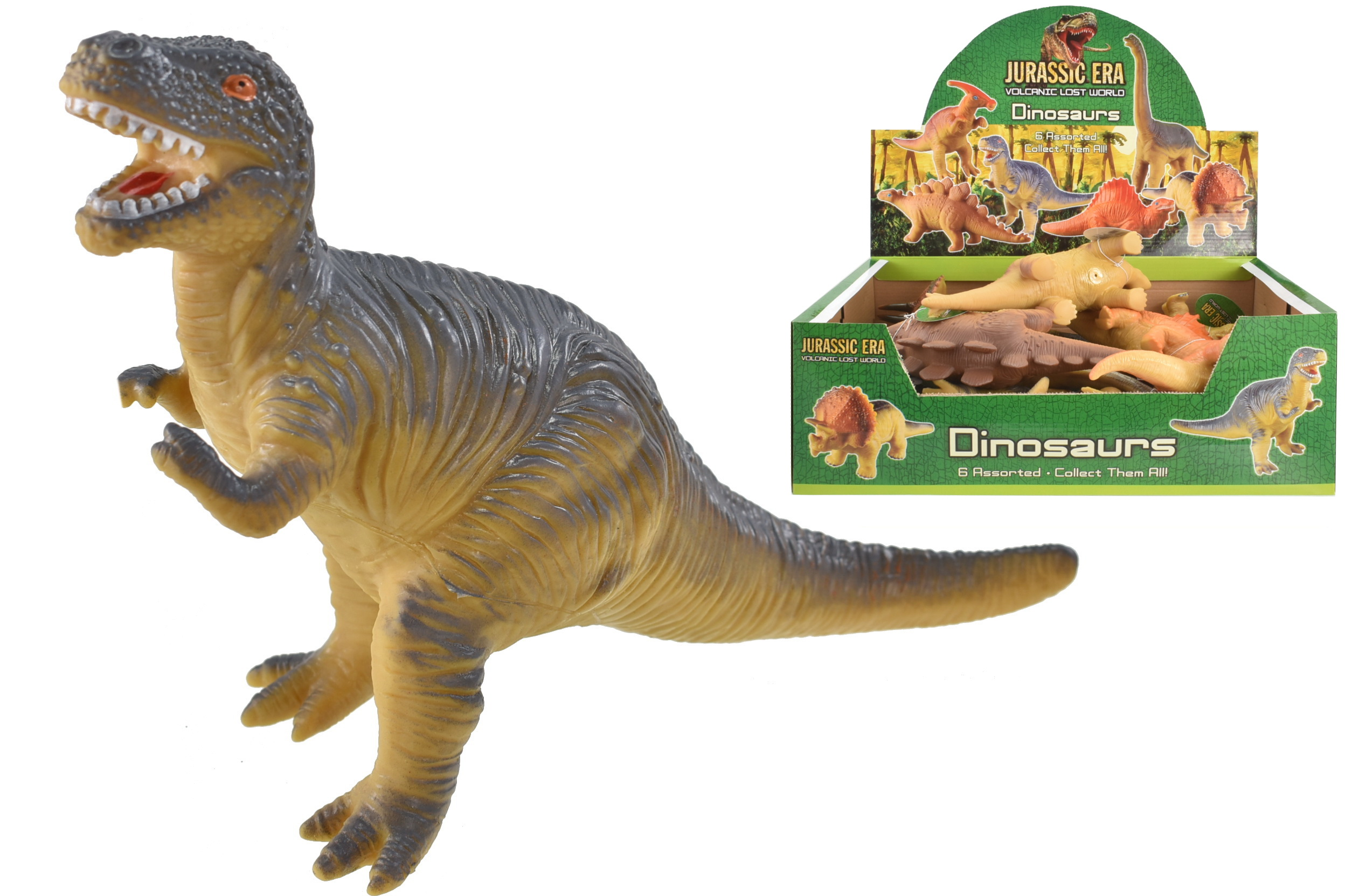 "10"" Dinosaurs (6 Assorted) In Display Box"
