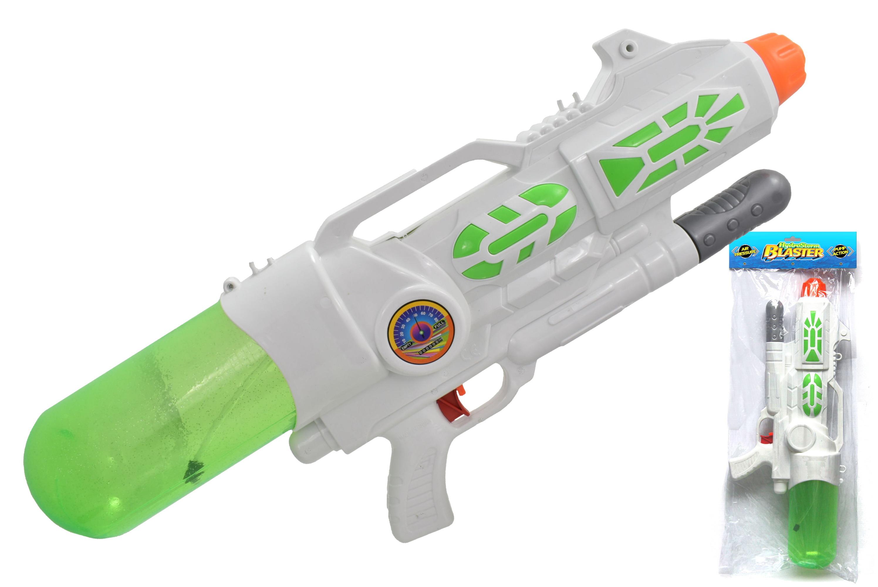 """59cm Air Pressure Water Gun """"Hydrostorm"""" In Pvc Bag"""