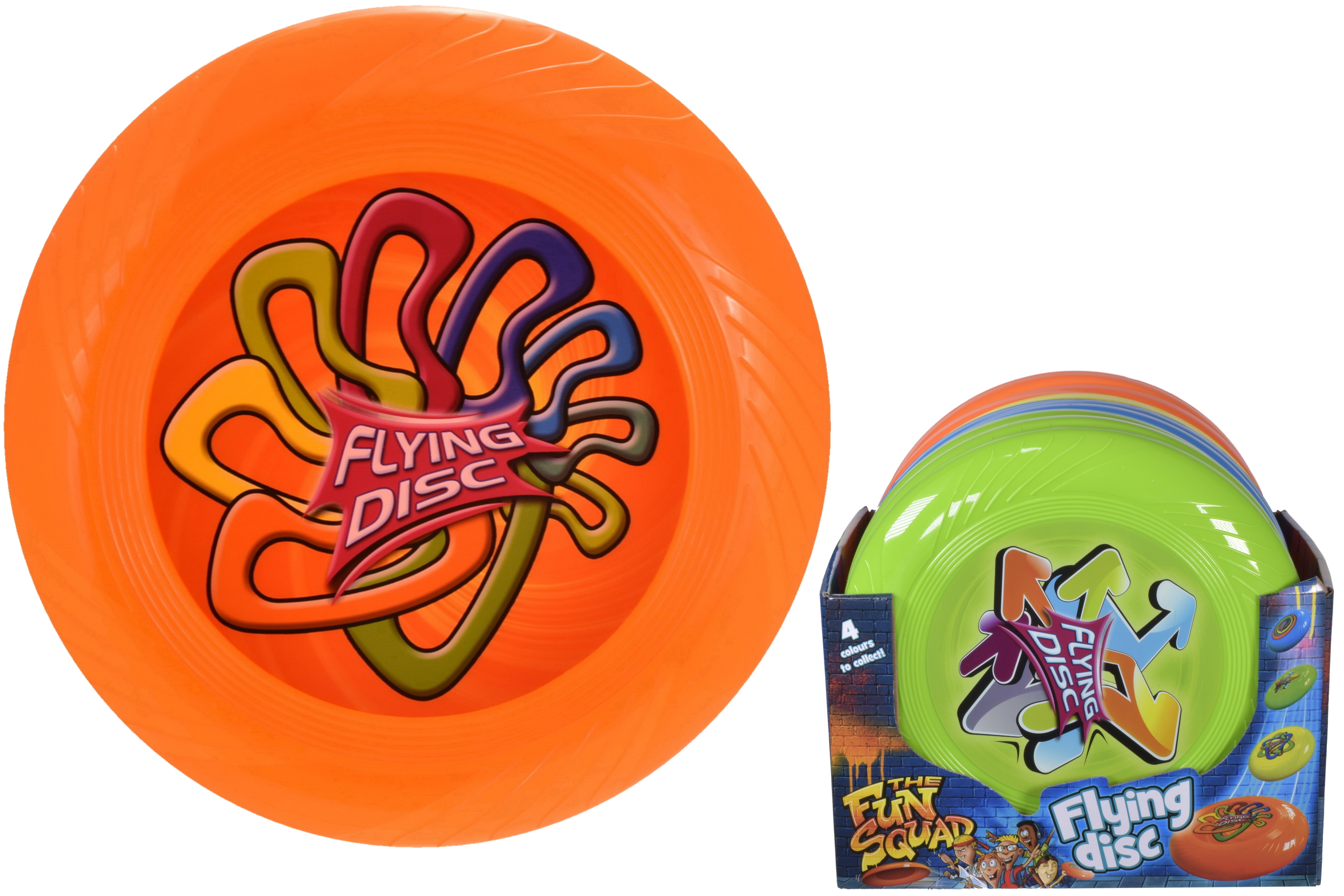 """10"""" (75gm) Frisbee (4 Assorted Colours) In Display Box"""