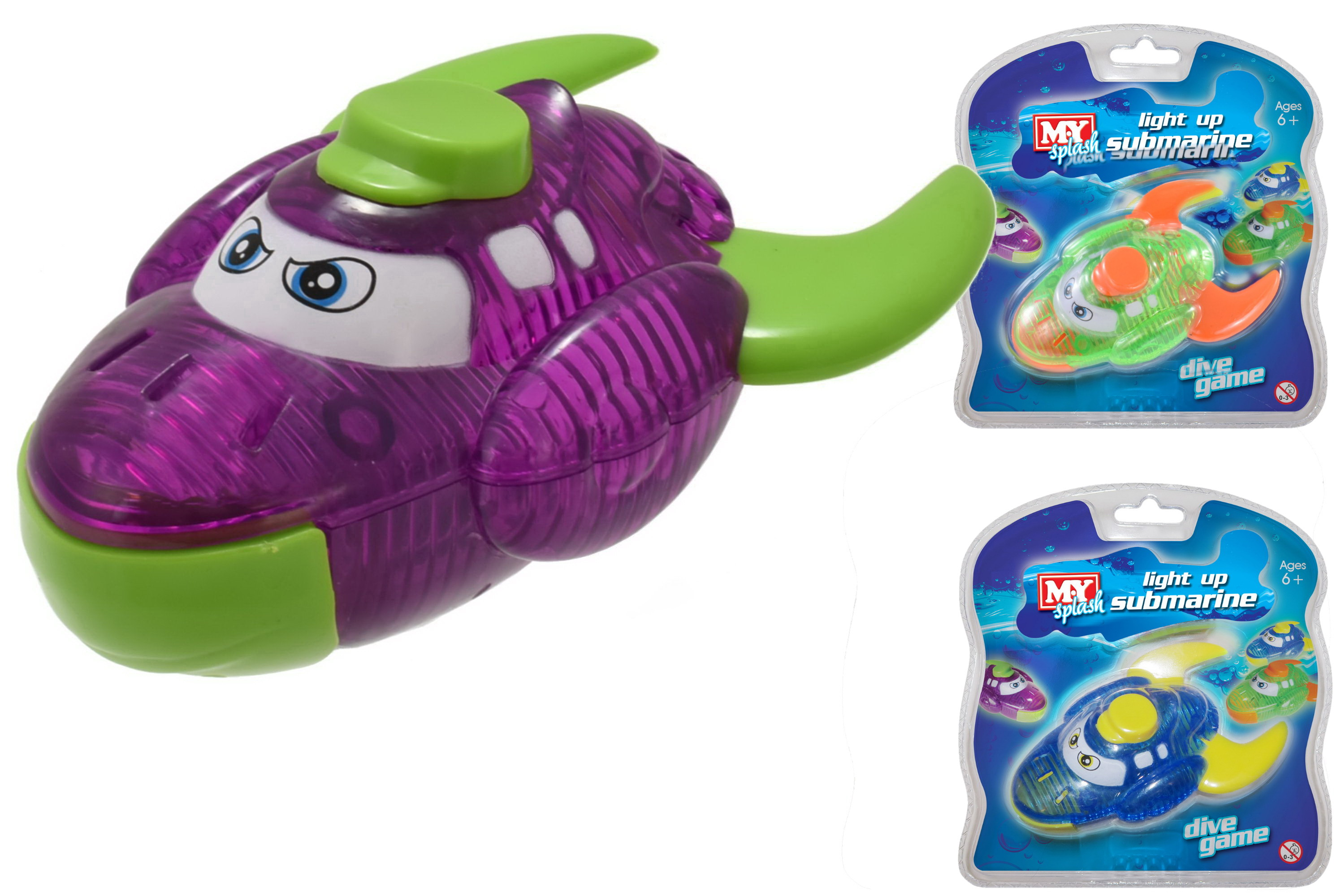 Submarine Light Up Dive Game (3 Assorted Colours)