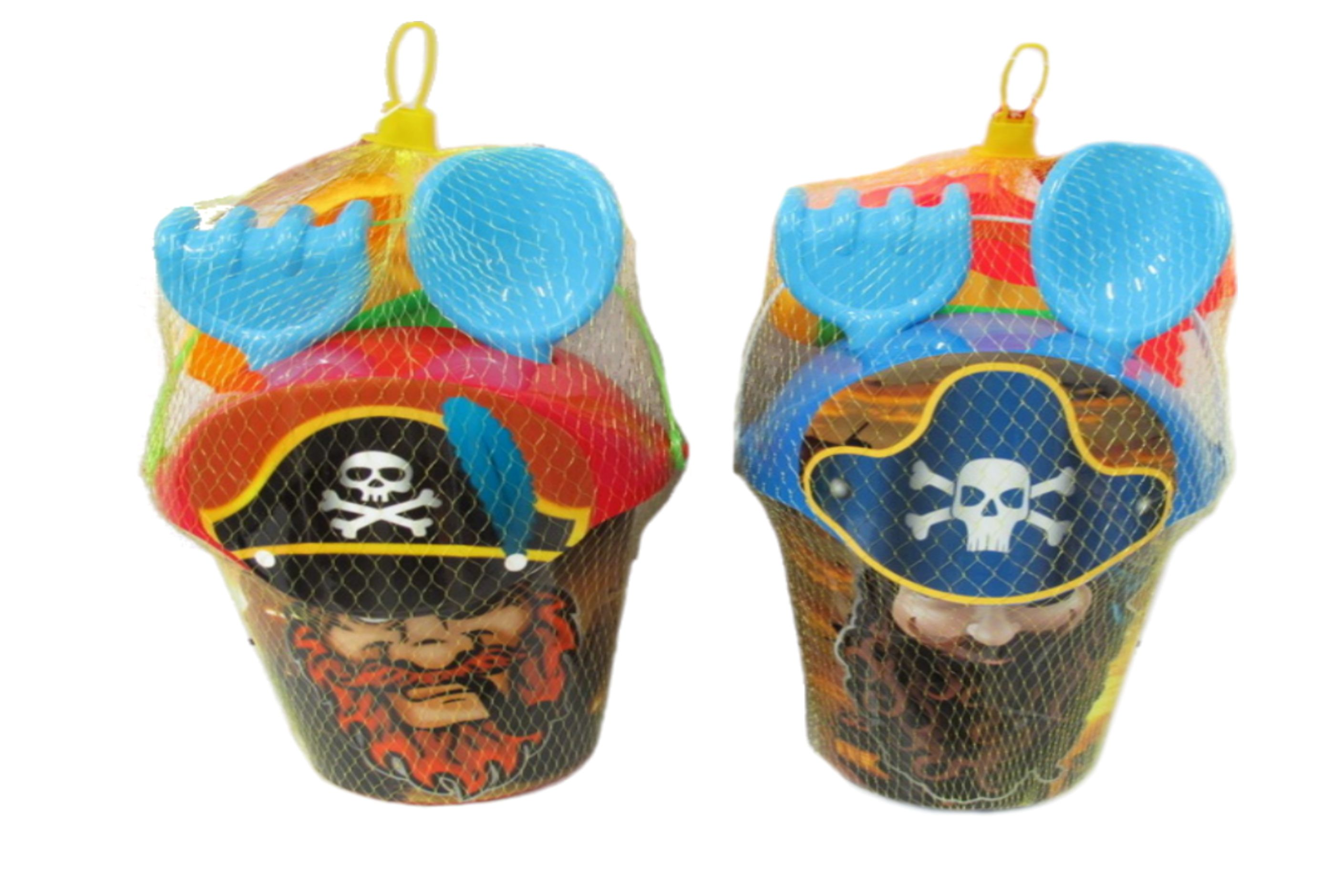 6pc Pirate Print Bucket Sets - 2 Assorted - Netted