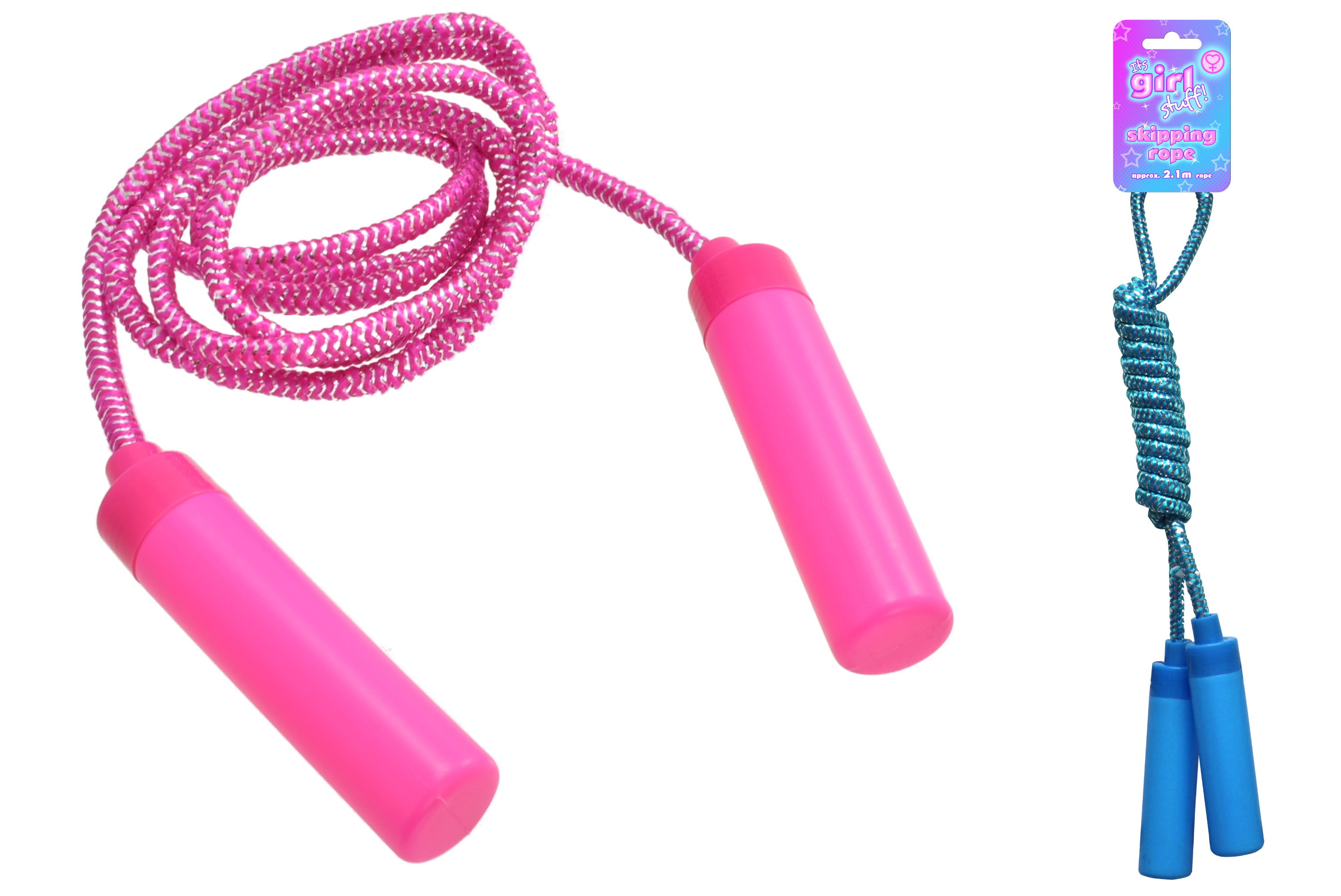2.2m Skipping Rope (2 Assorted Colours) - Hangcard