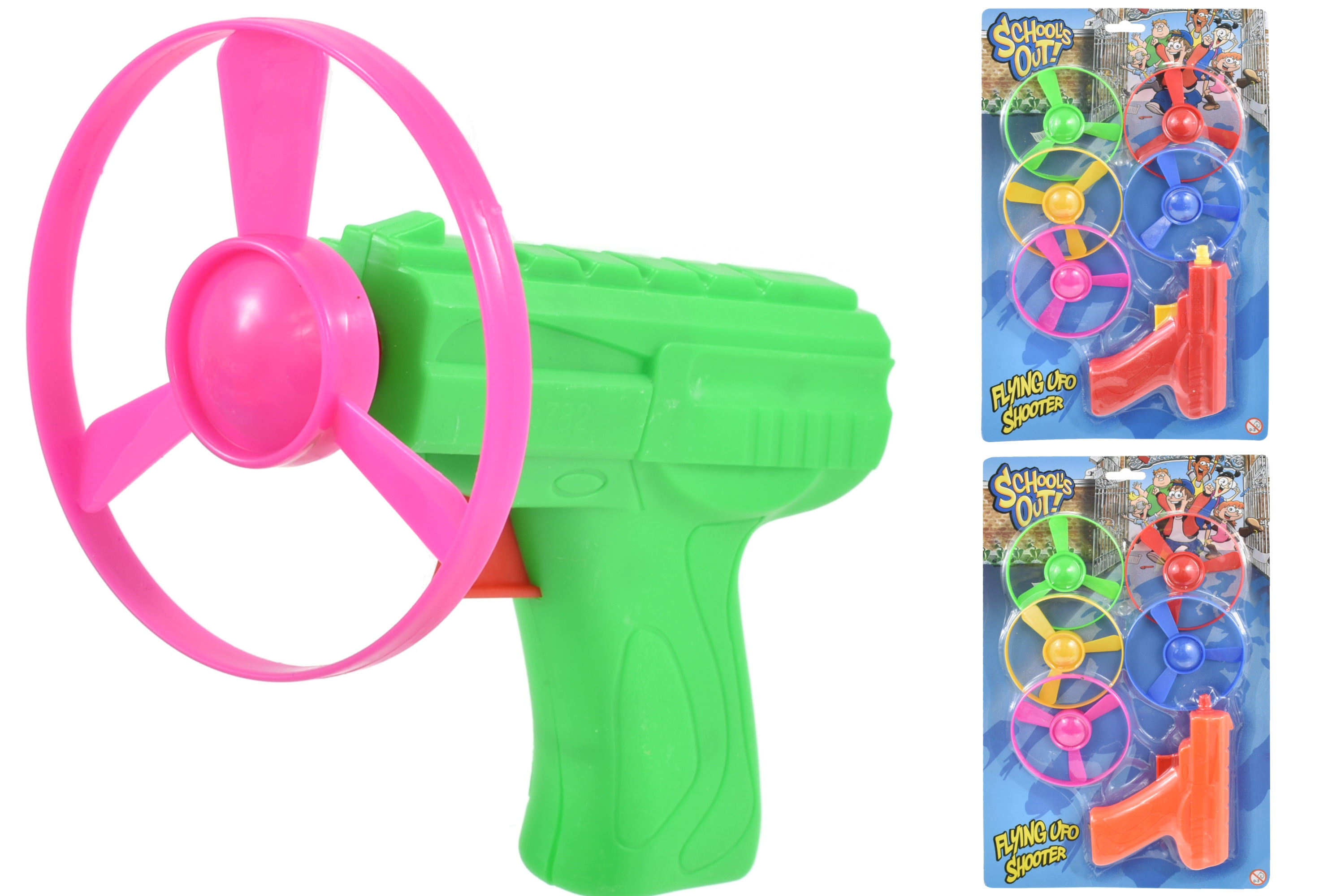 Flying Ufo (5pcs) Shooter - 3 Assorted Colours