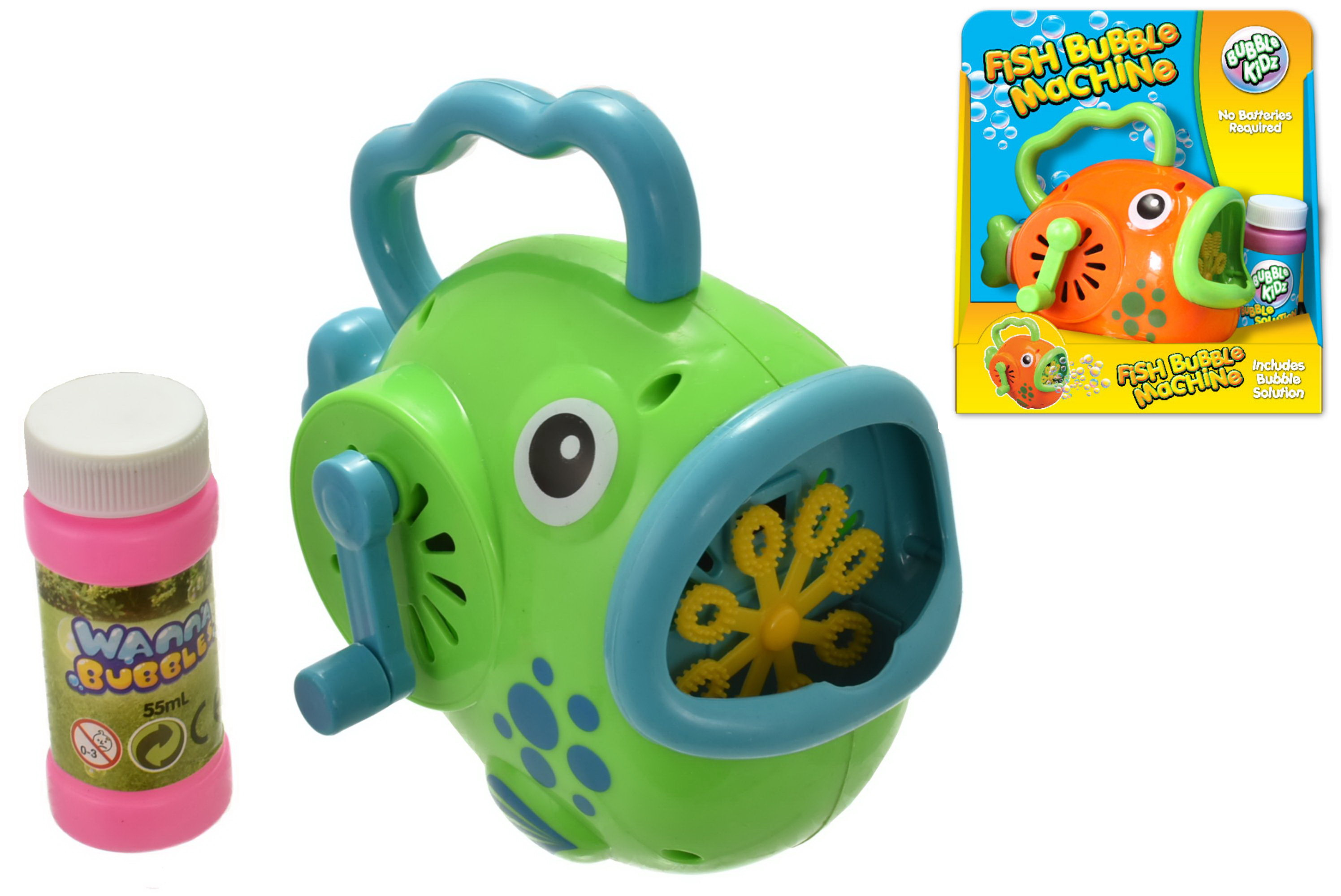 Fish Bubble Machine With Bubbles (2 Assorted Colours)