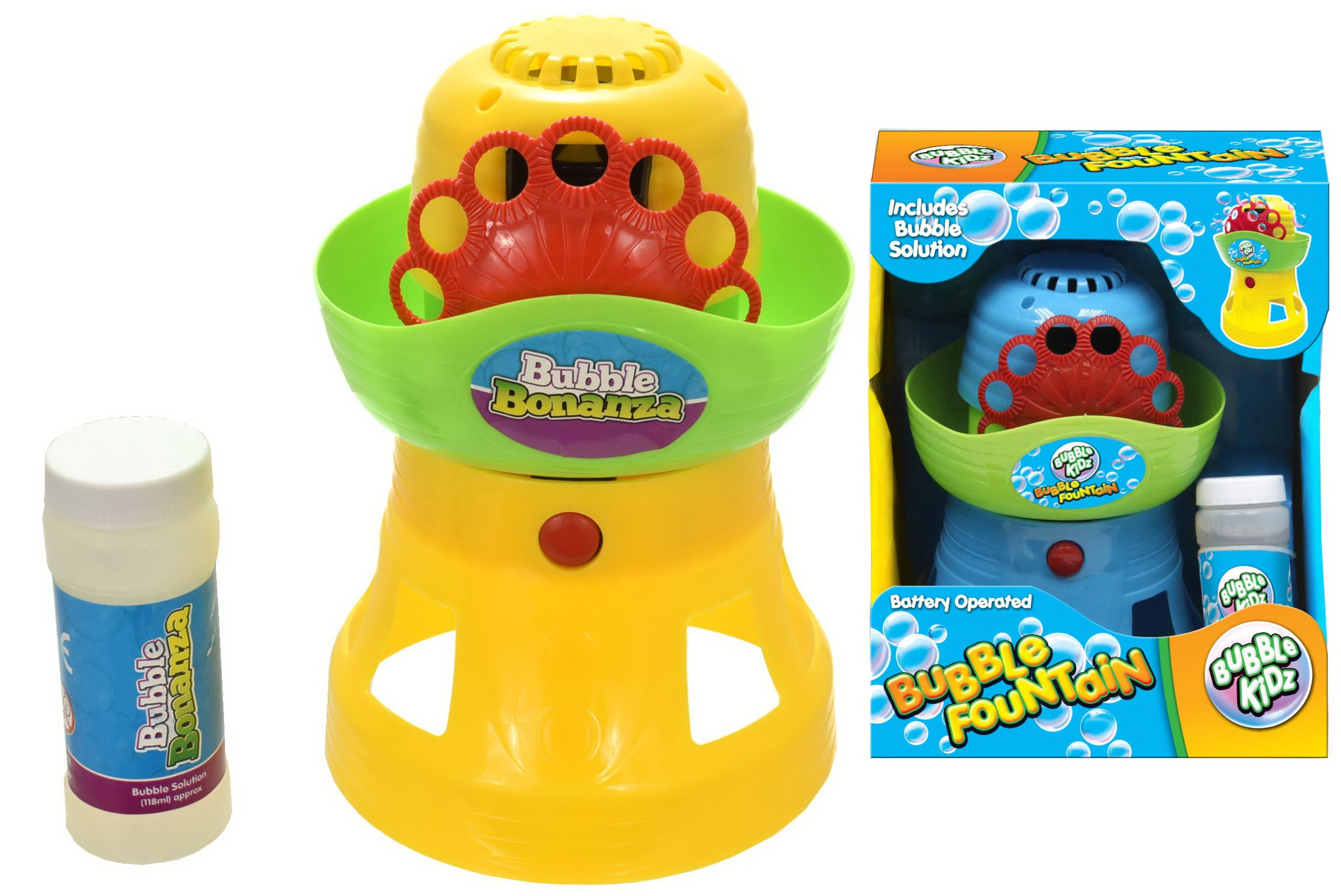 B/O Bubble Fountain With Bubbles (2 Assorted Colours)
