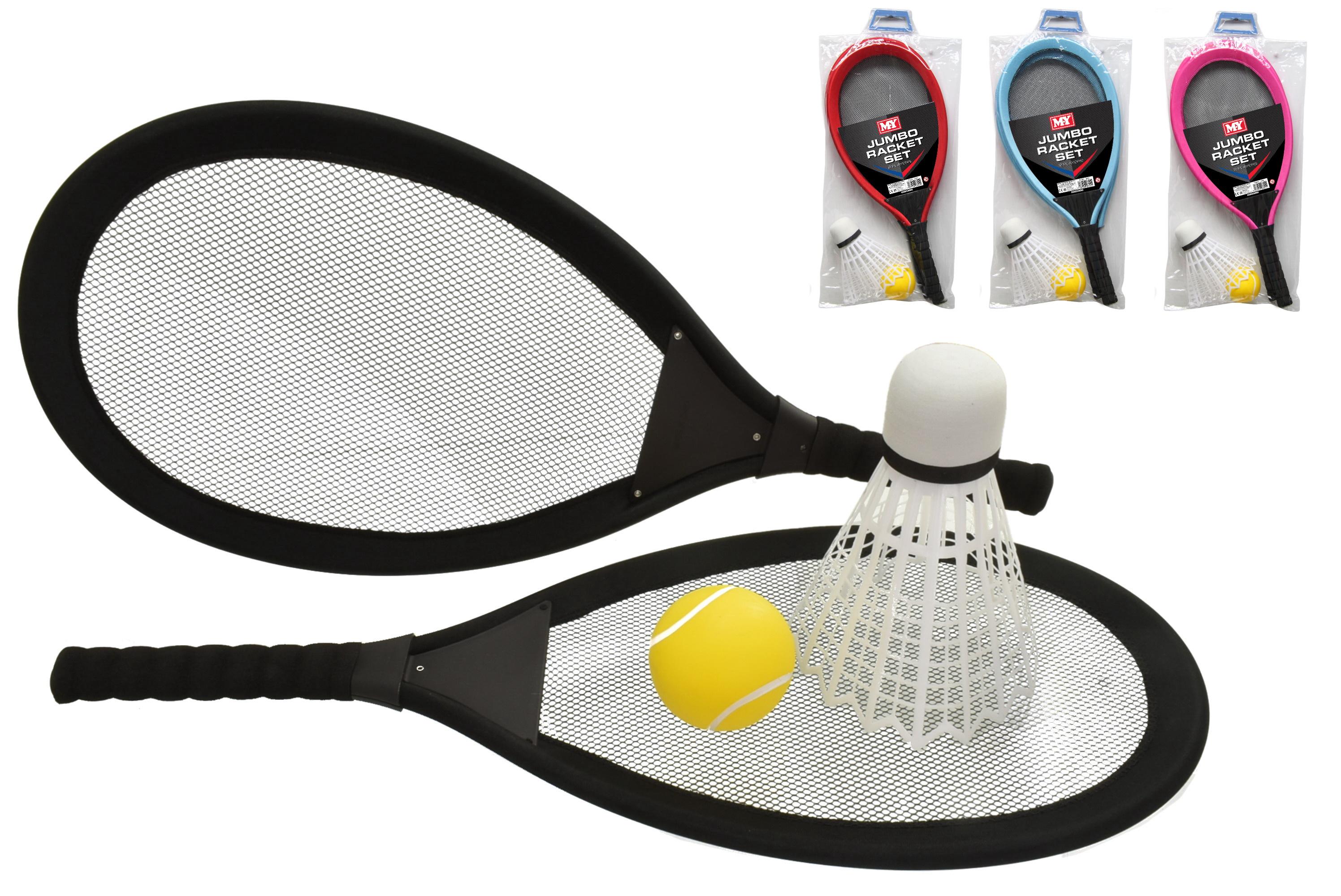 Jumbo Racket Set - 4 Asst Colours