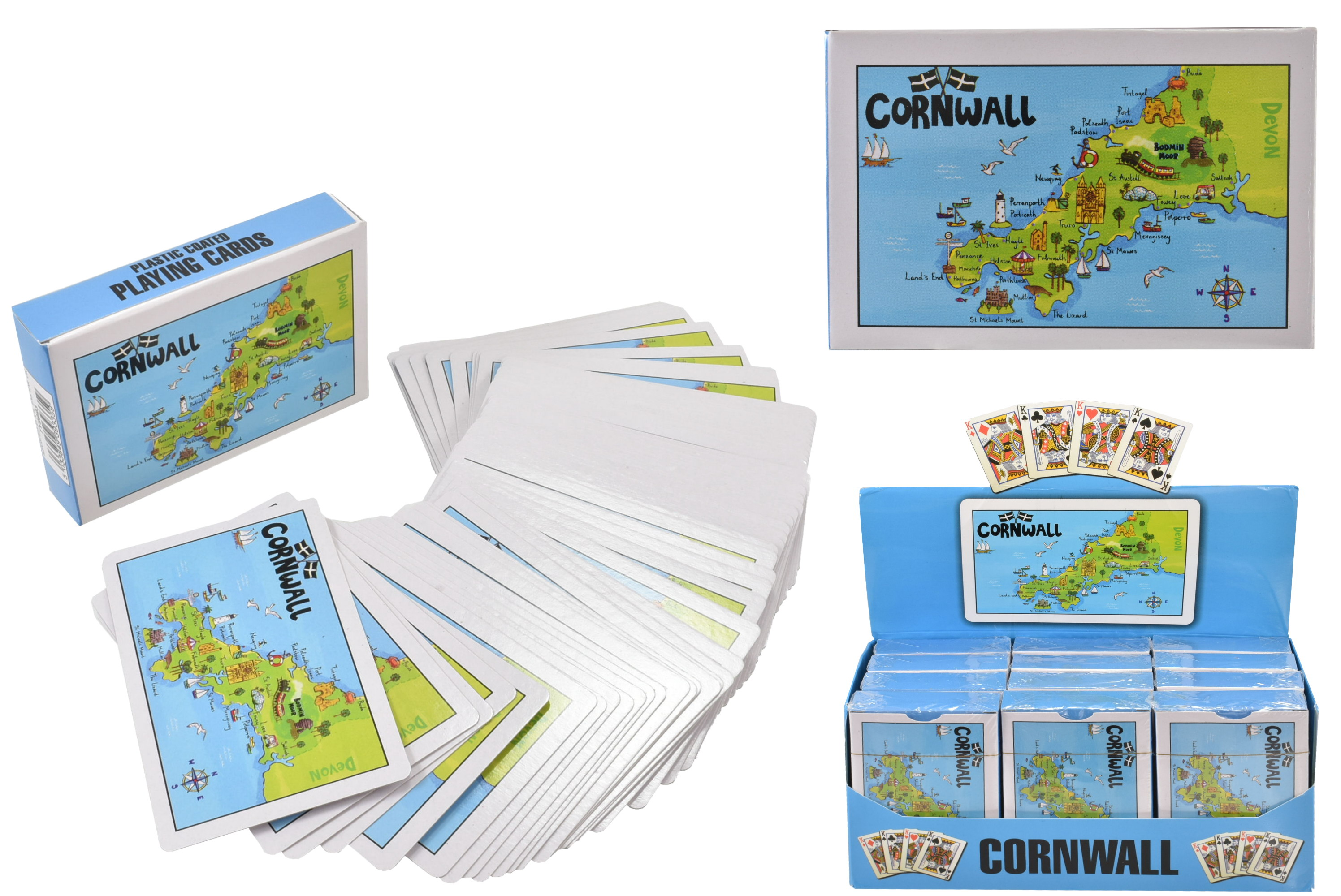 Plastic Coated Cornwall Playing Cards In Display Box